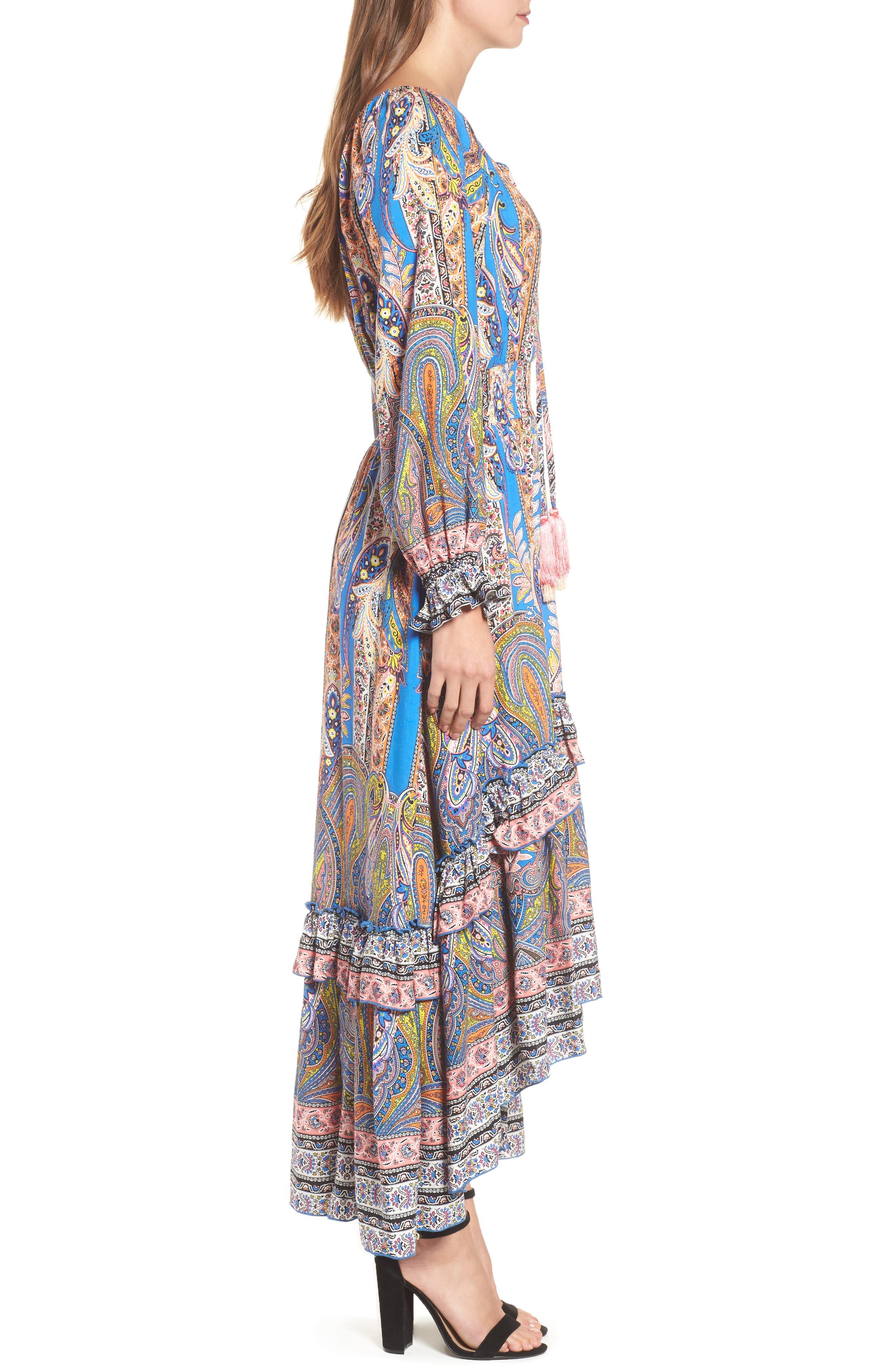 Ronda Paisley Print Maxi Dress,                             Alternate thumbnail 3, color,                             Pasiley Print