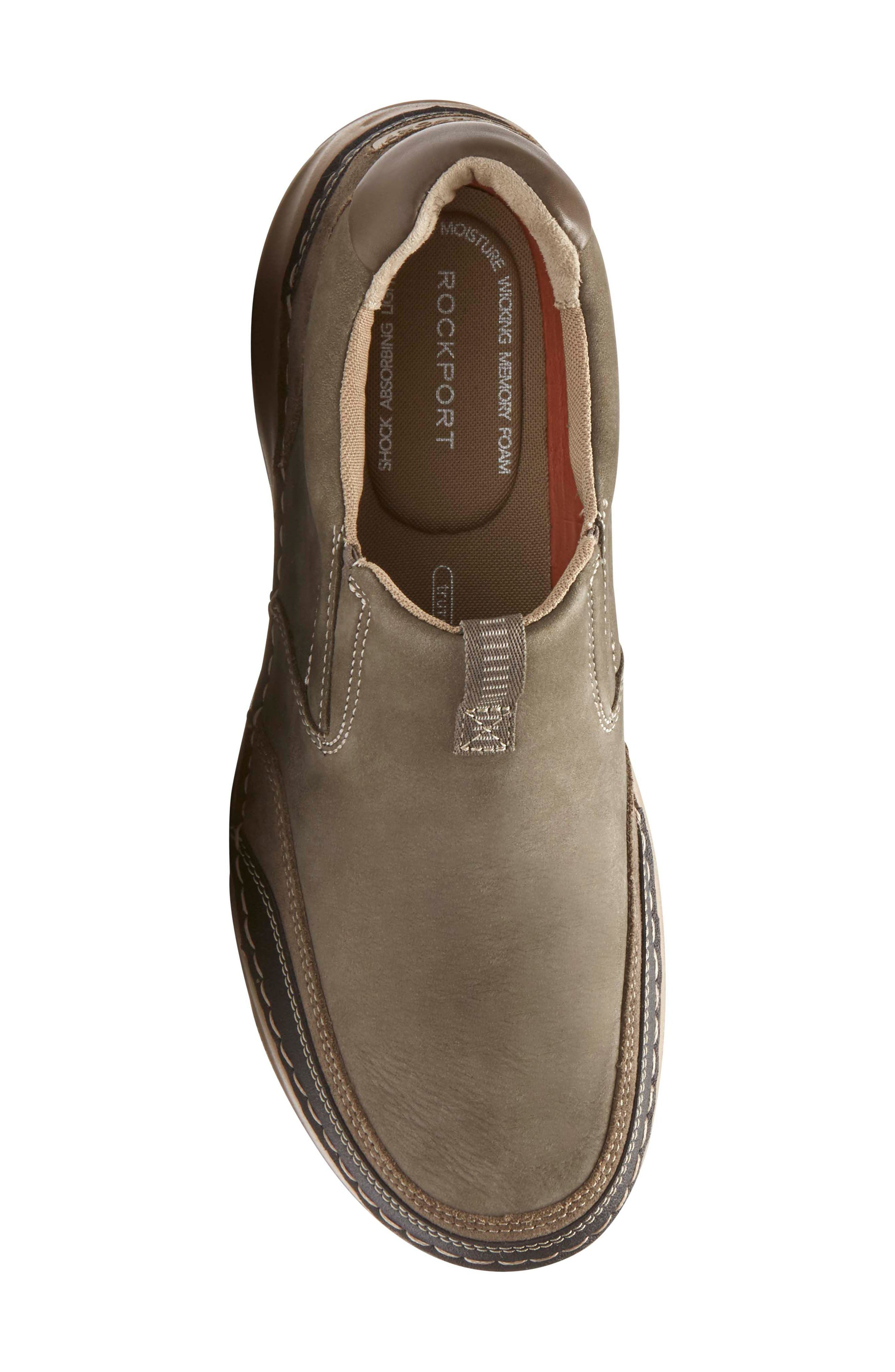 Lite Five Slip-On,                             Alternate thumbnail 5, color,                             Brown/ Green Leather