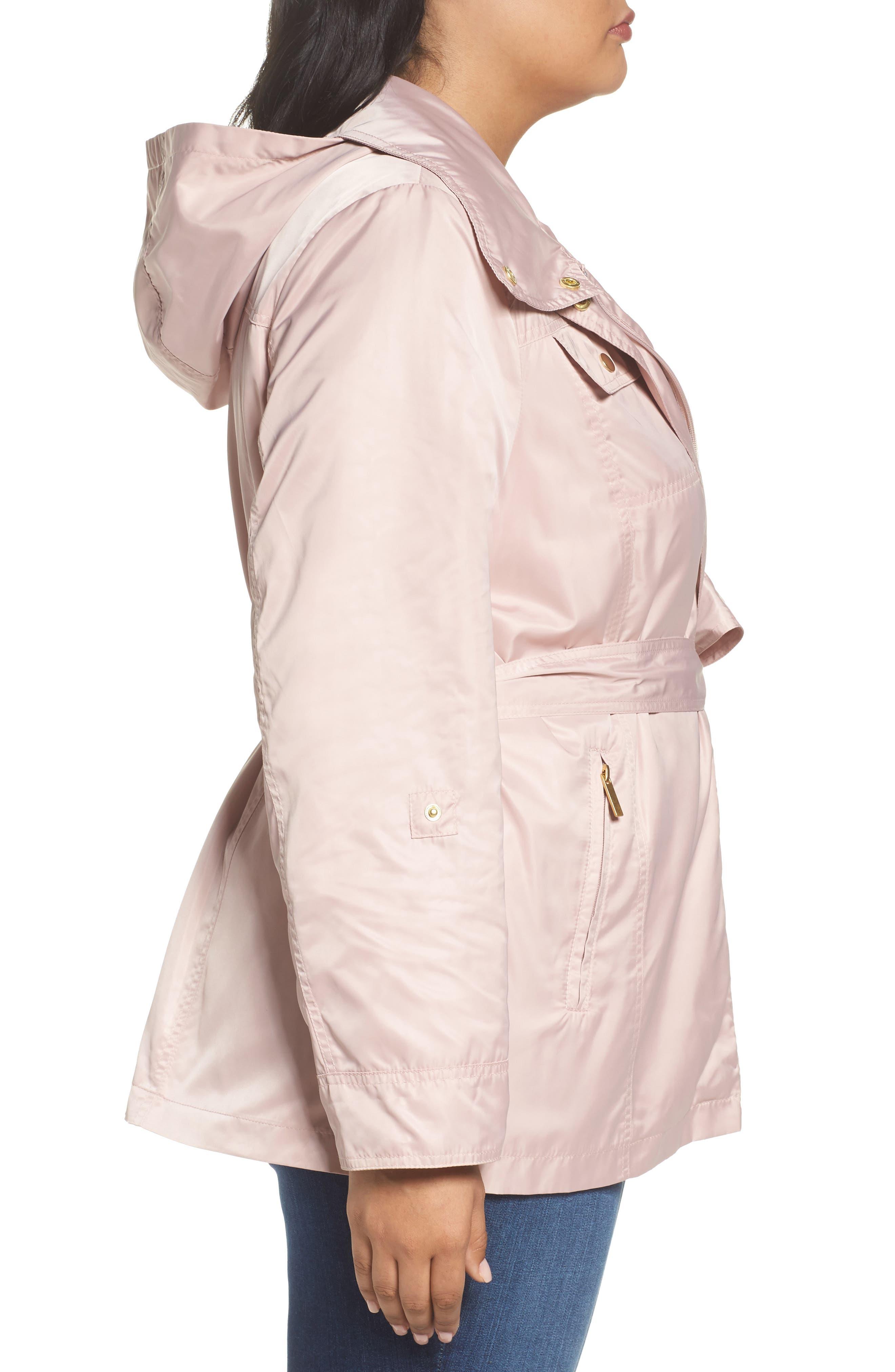 Belted Lightweight Jacket,                             Alternate thumbnail 3, color,                             Blush