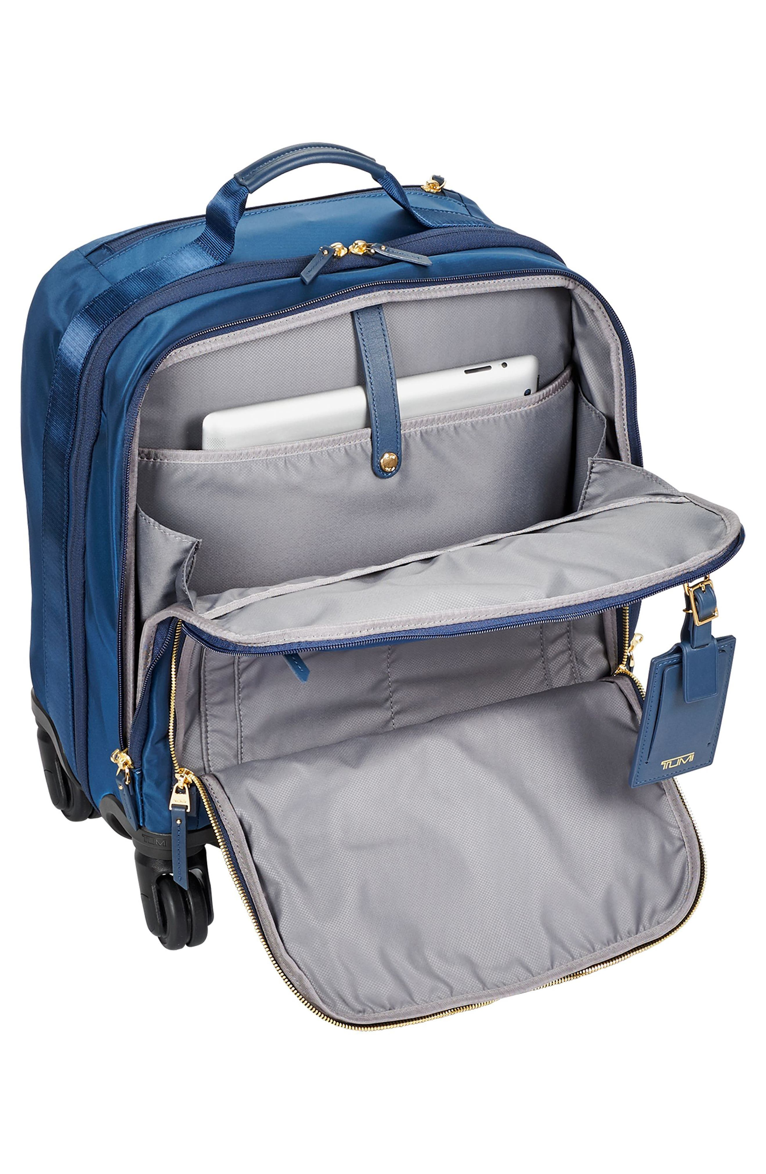 Voyageur - Oslo Compact 15-Inch Wheeled Carry-On,                             Alternate thumbnail 4, color,                             Ocean Blue