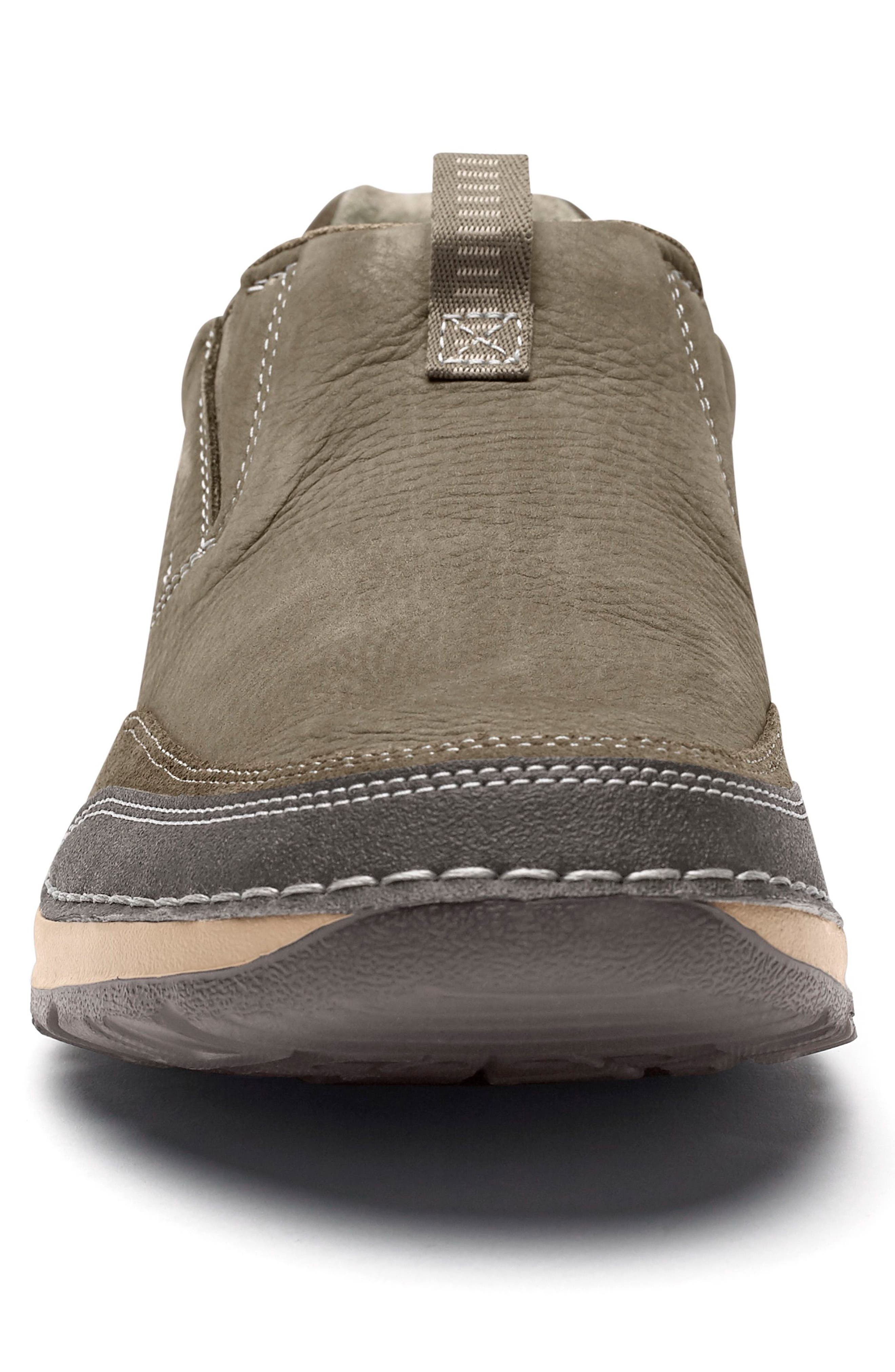 Lite Five Slip-On,                             Alternate thumbnail 4, color,                             Brown/ Green Leather