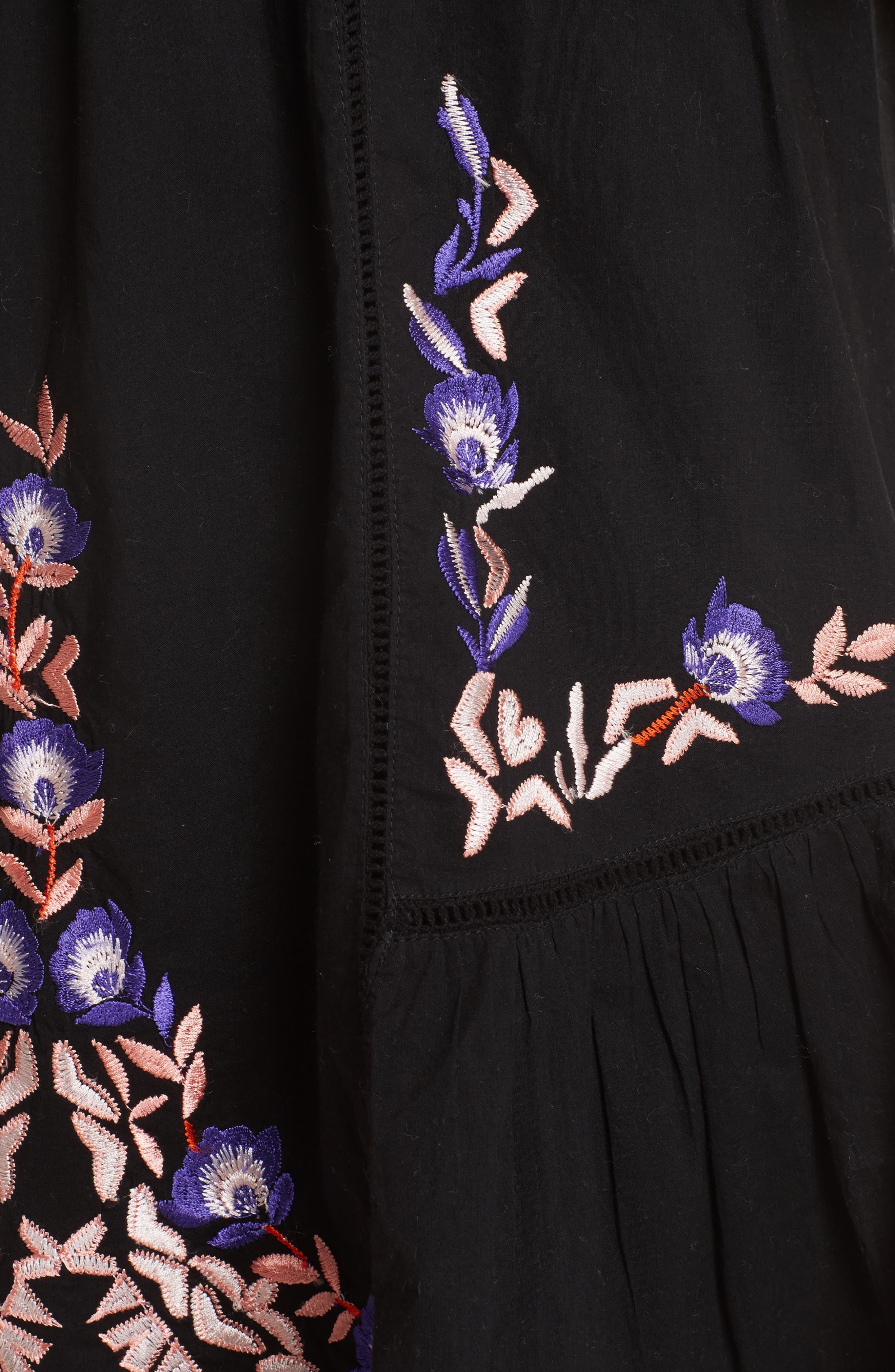 Pavlo Babydoll Dress,                             Alternate thumbnail 6, color,                             Black