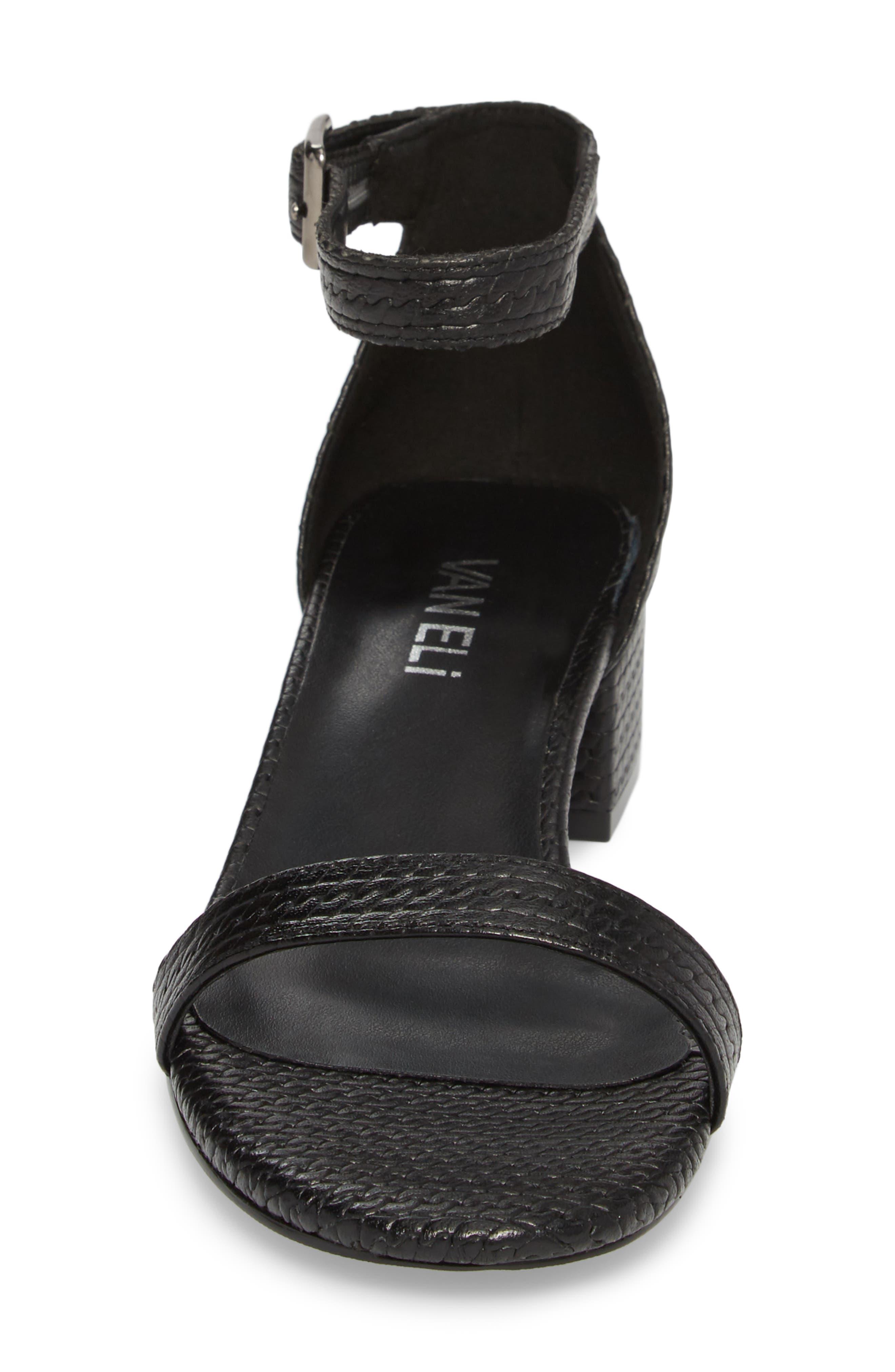 Hirin Sandal,                             Alternate thumbnail 4, color,                             Black Printed Leather