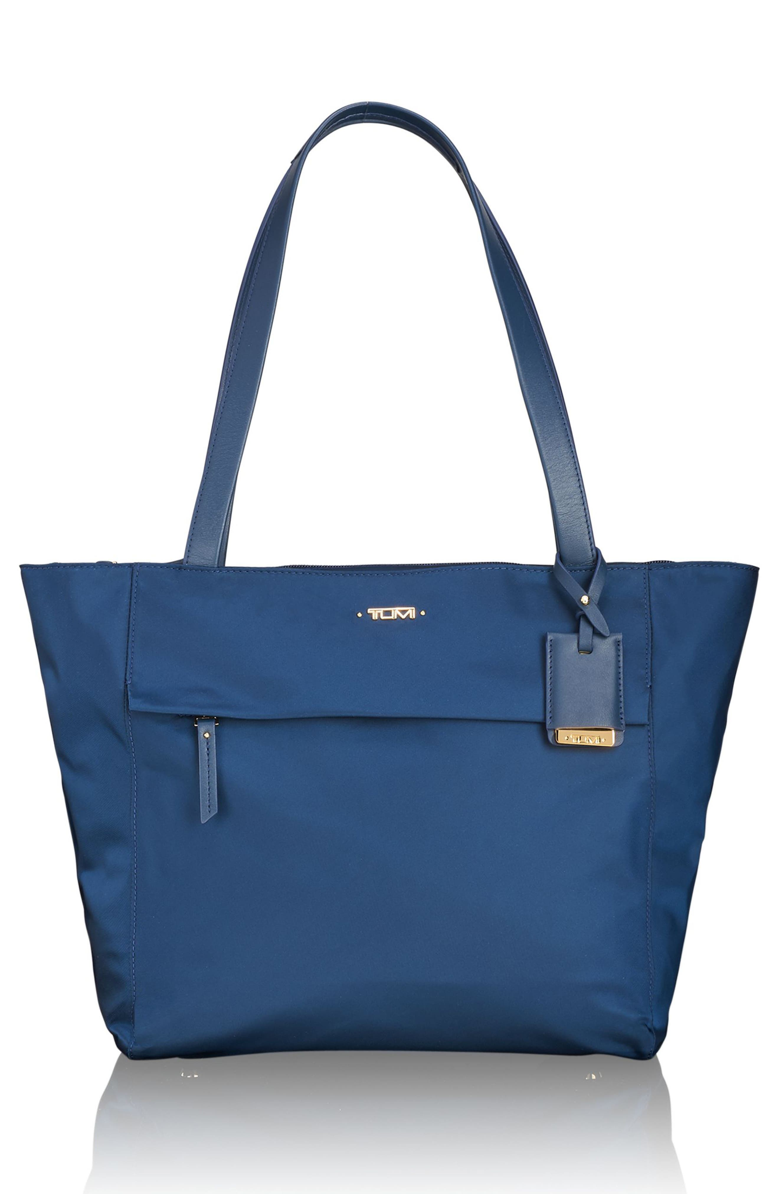 Small M-Tote Nylon Tote,                         Main,                         color, Ocean Blue