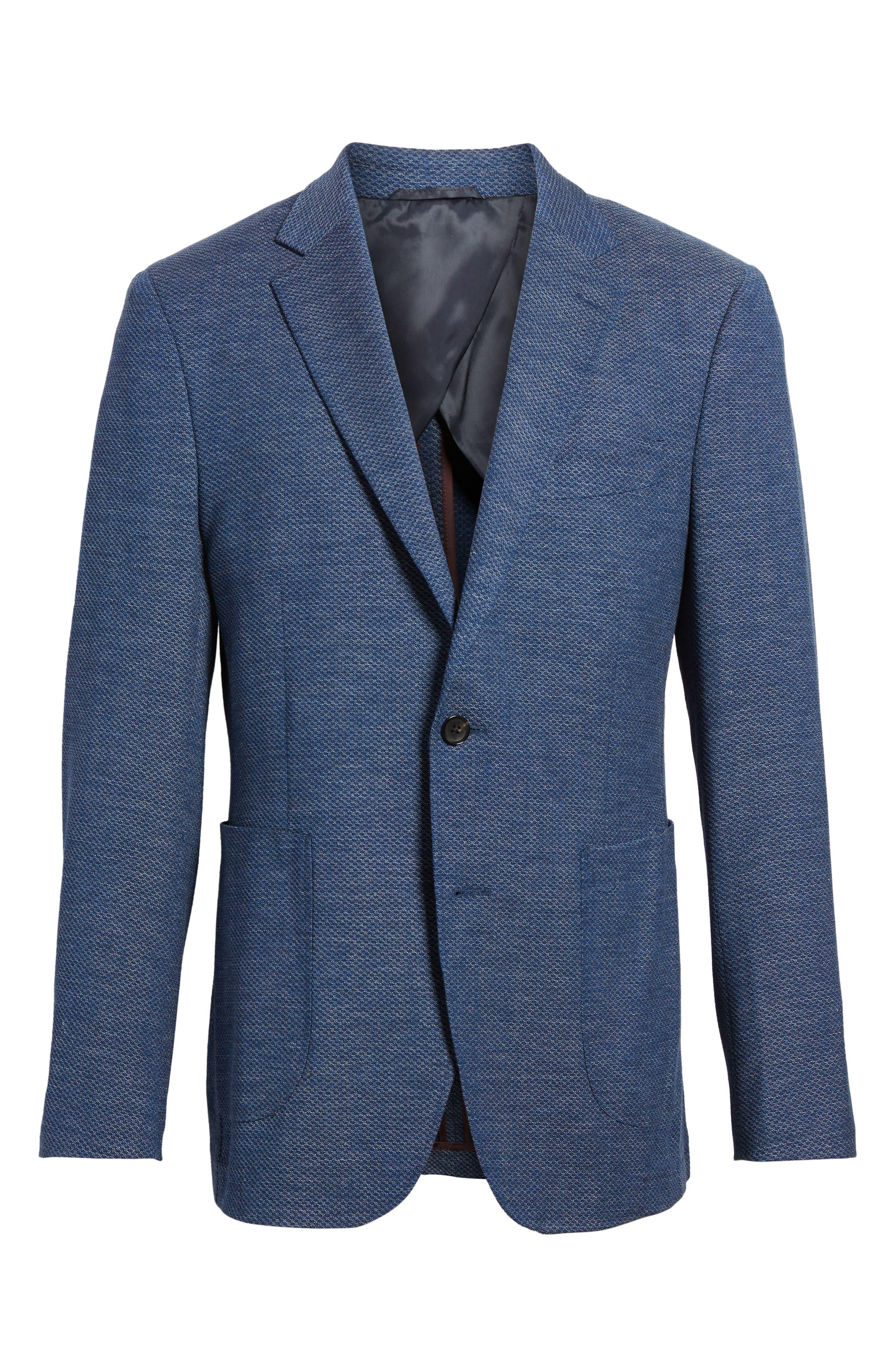 Fife Street Wool Blend Blazer,                             Alternate thumbnail 6, color,                             Marine