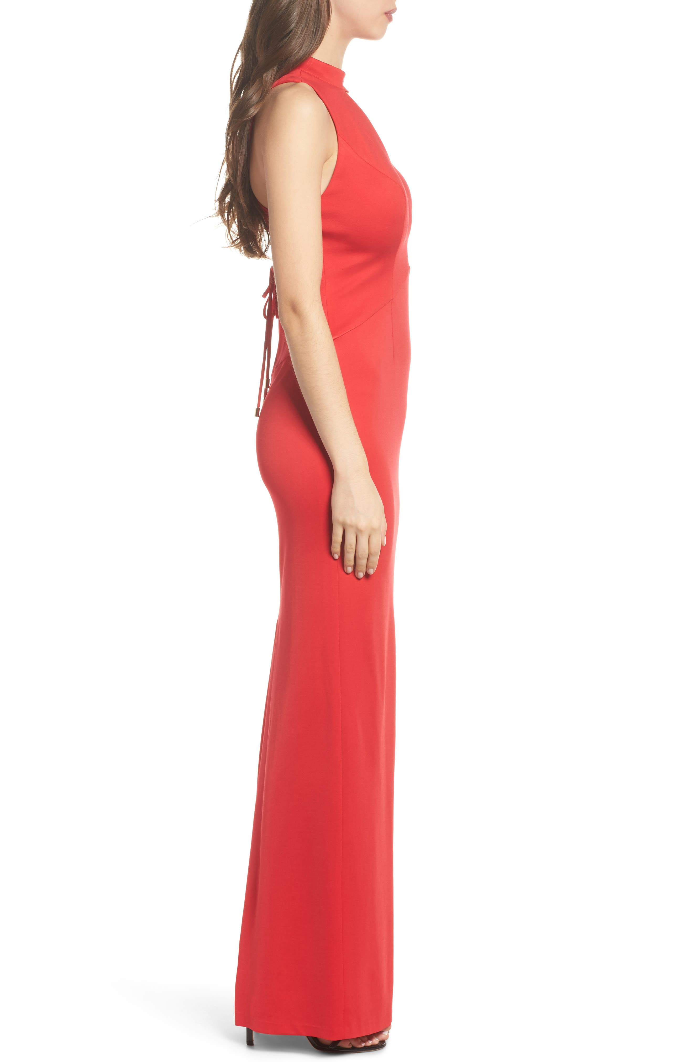 Alternate Image 3  - Adrianna Papell Lola Corset Back Jersey Gown