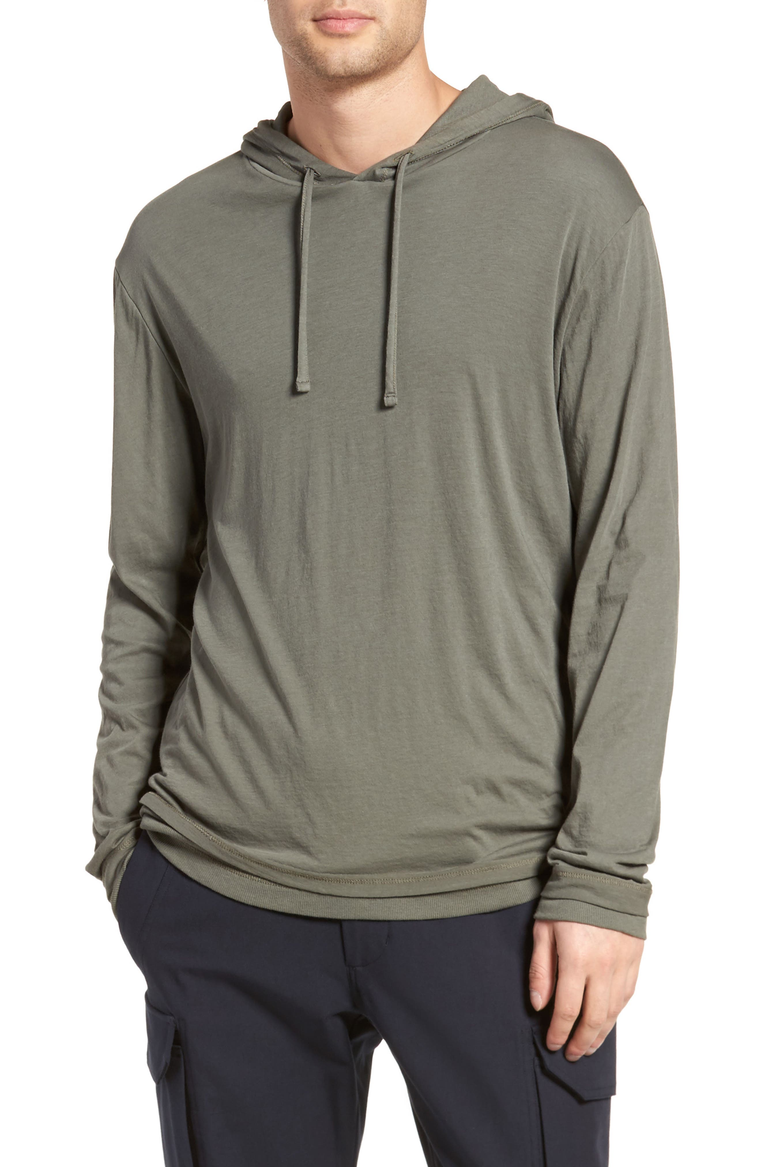Double Layer Hoodie,                             Main thumbnail 1, color,                             Pine