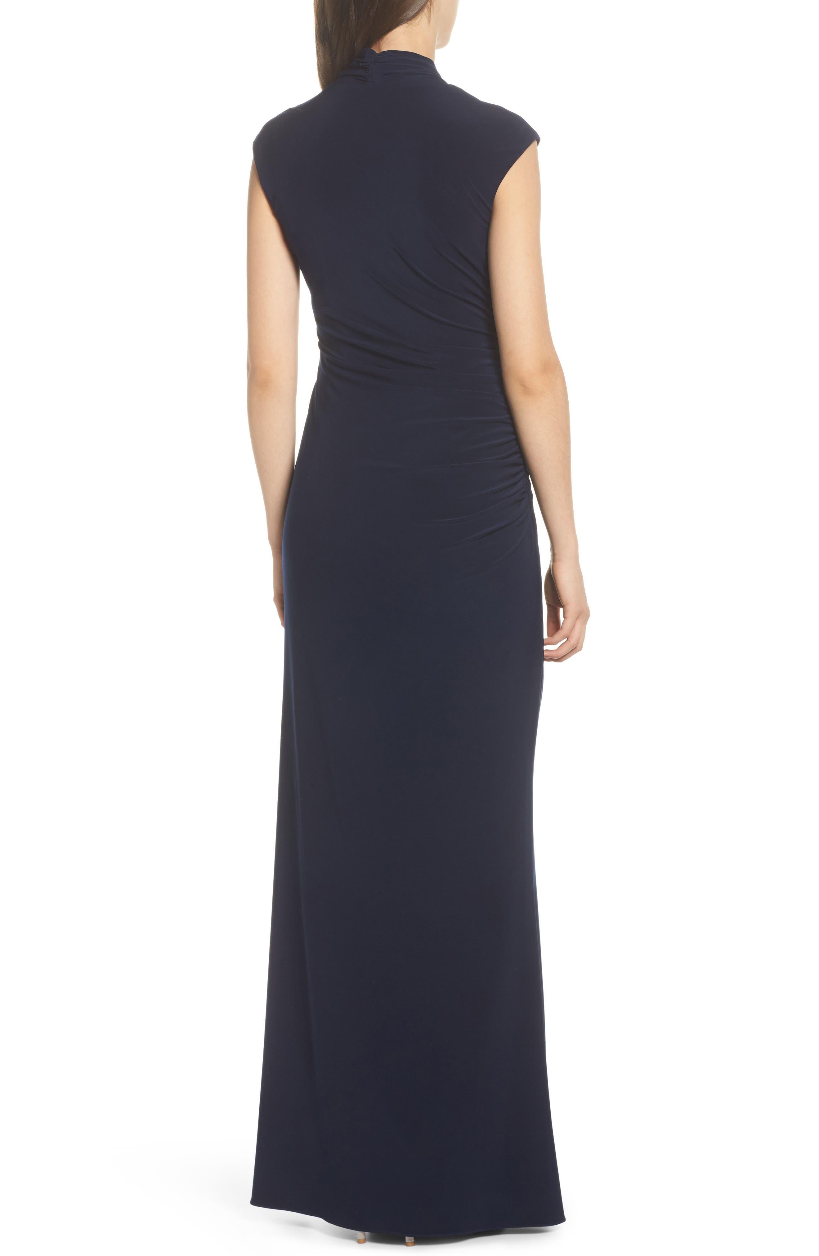 Draped Jersey Maxi Dress,                             Alternate thumbnail 2, color,                             Midnight