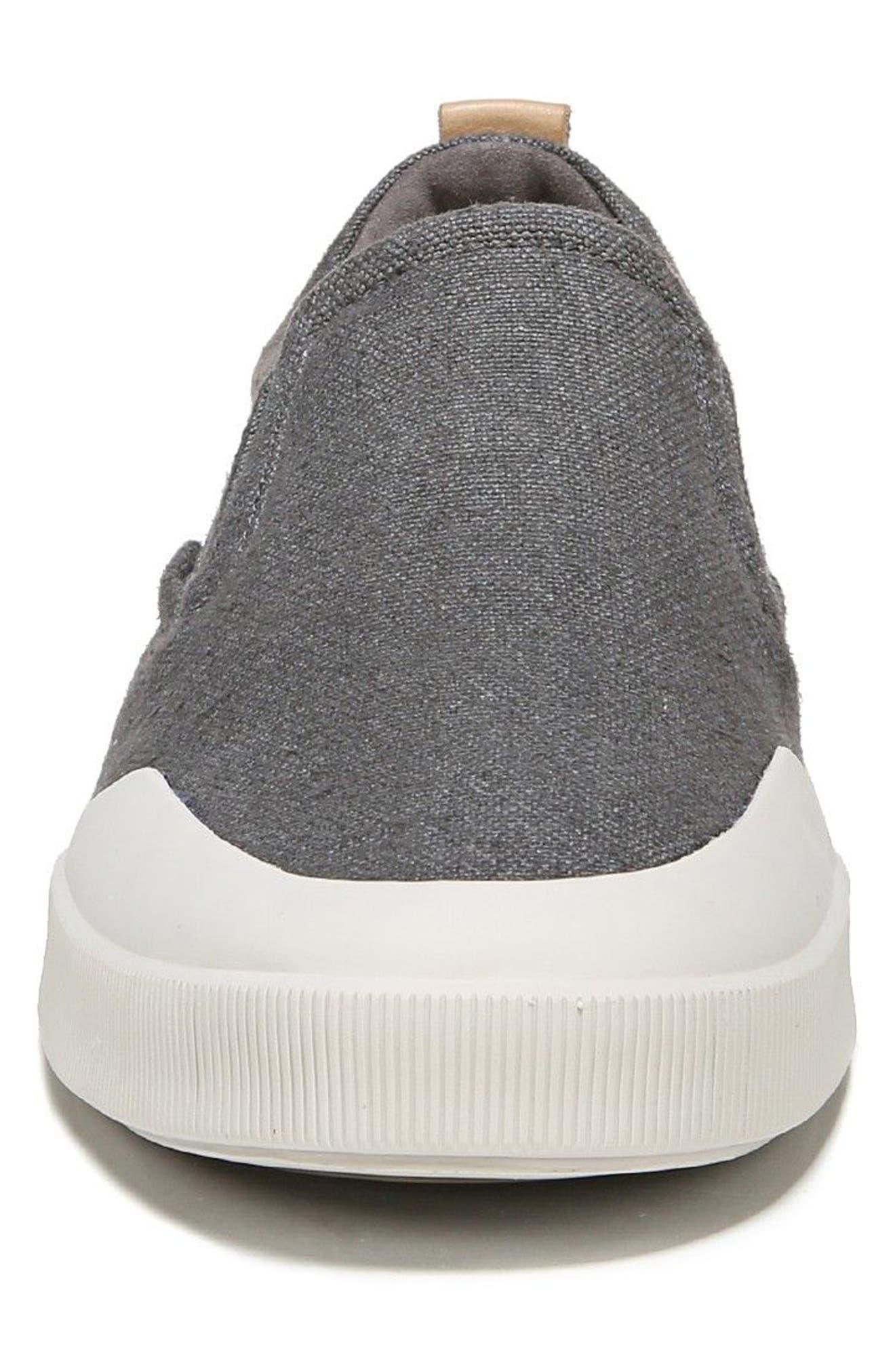 Vernon Slip-On Sneaker,                             Alternate thumbnail 4, color,                             Graphite/ Cuoio