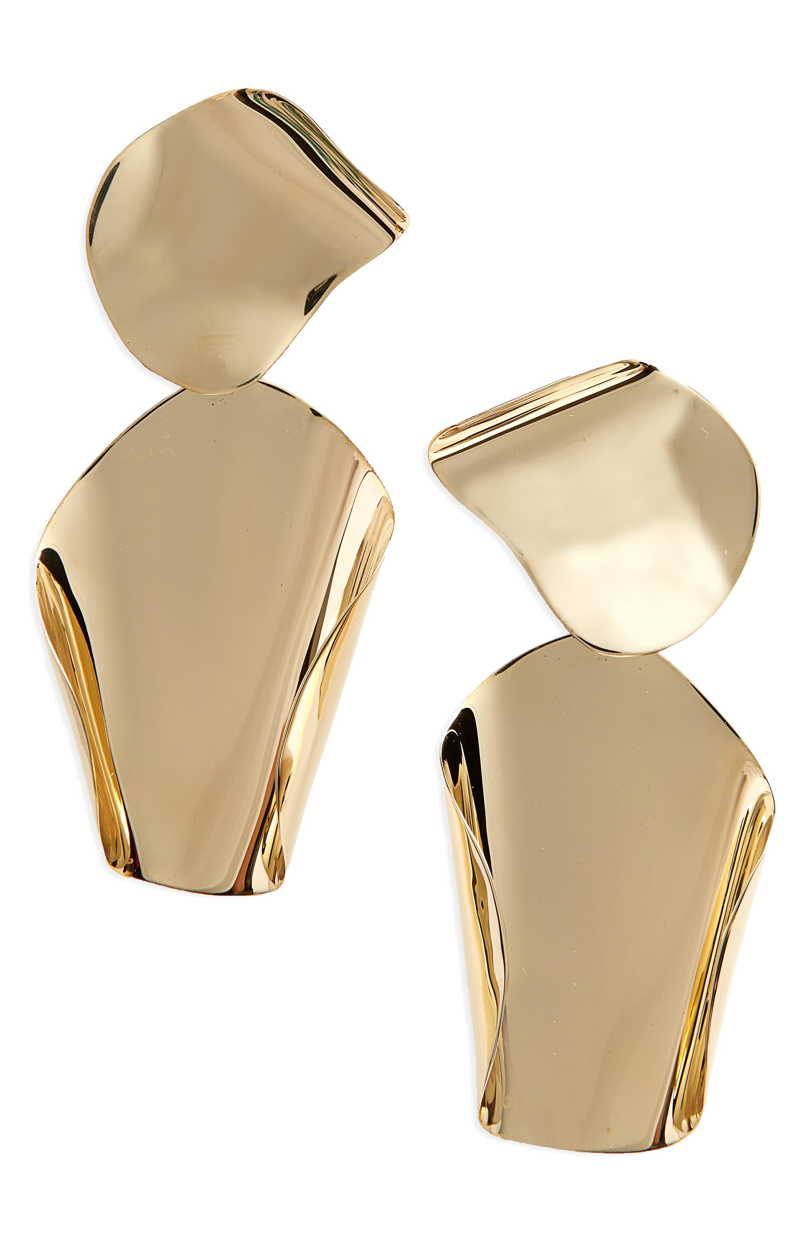 Drape Drop Earrings,                             Main thumbnail 1, color,                             Bronze
