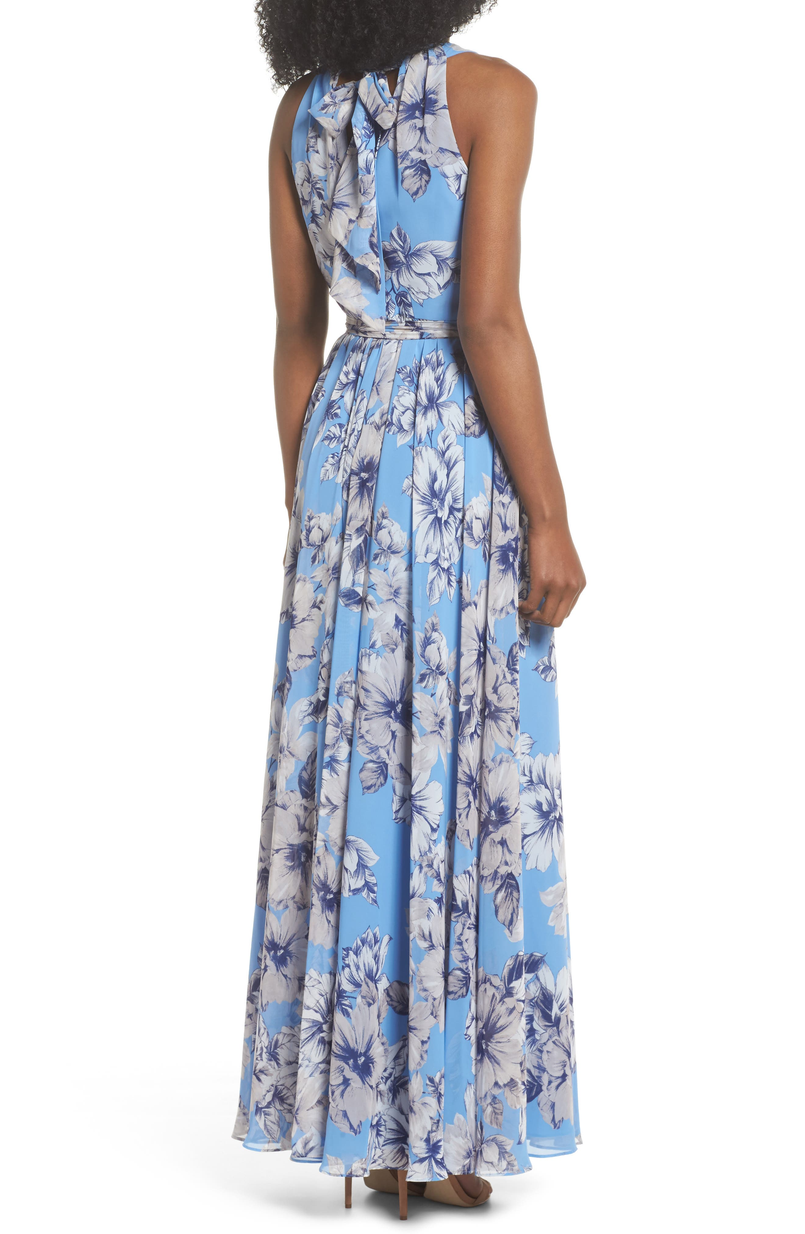 Halter Maxi Dress,                             Alternate thumbnail 2, color,                             Blue