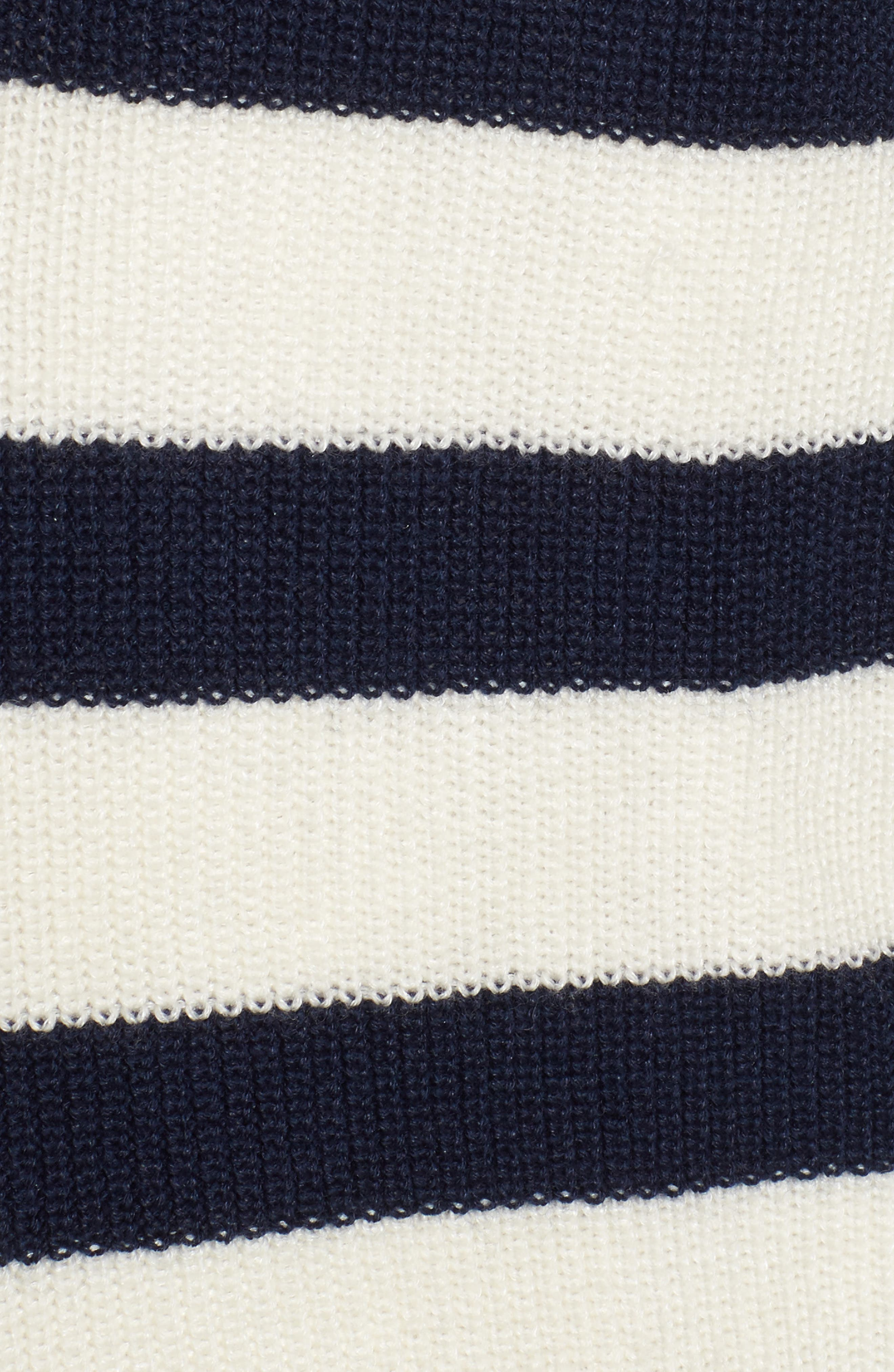 Crown Cool Sailor Stripe Merino Wool & Linen Cardigan,                             Alternate thumbnail 5, color,                             Yankee Blue
