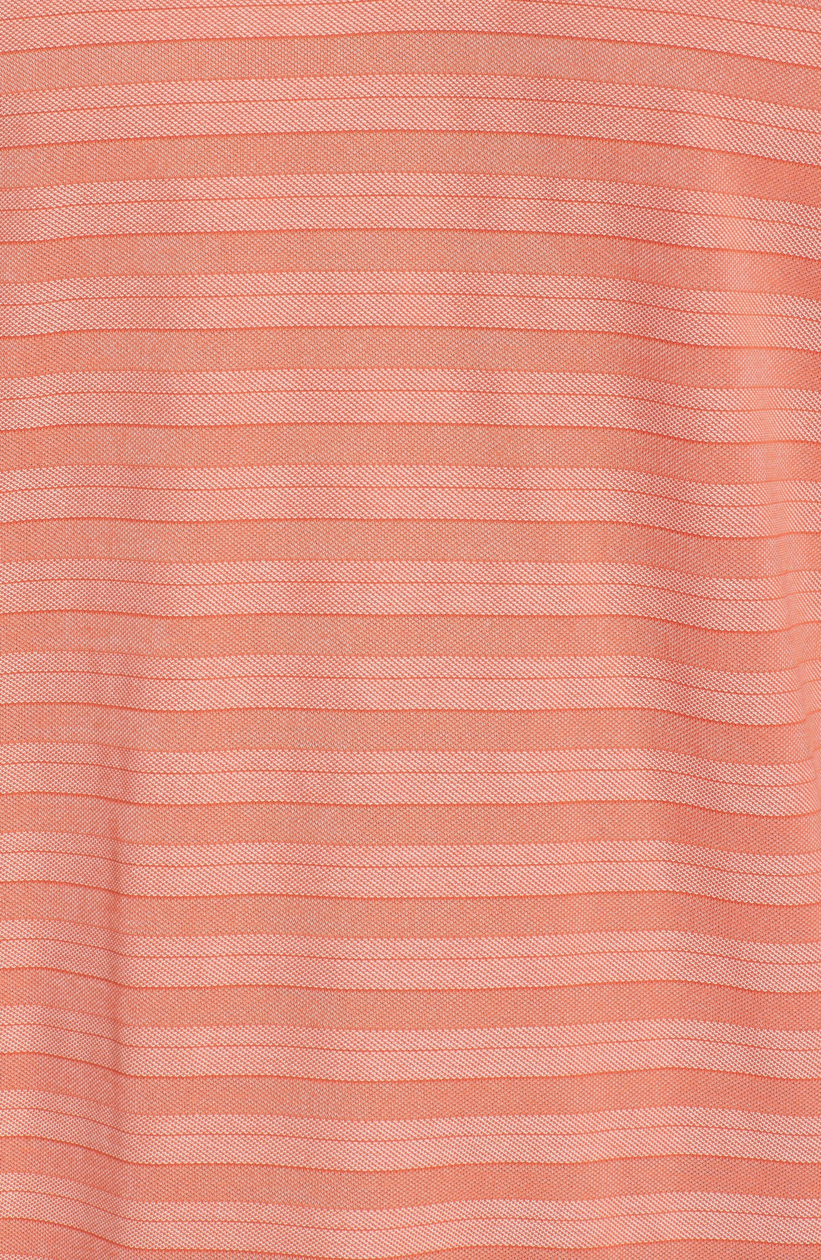 Tropicool Tides Stripe Polo,                             Alternate thumbnail 5, color,                             Burnt Coral