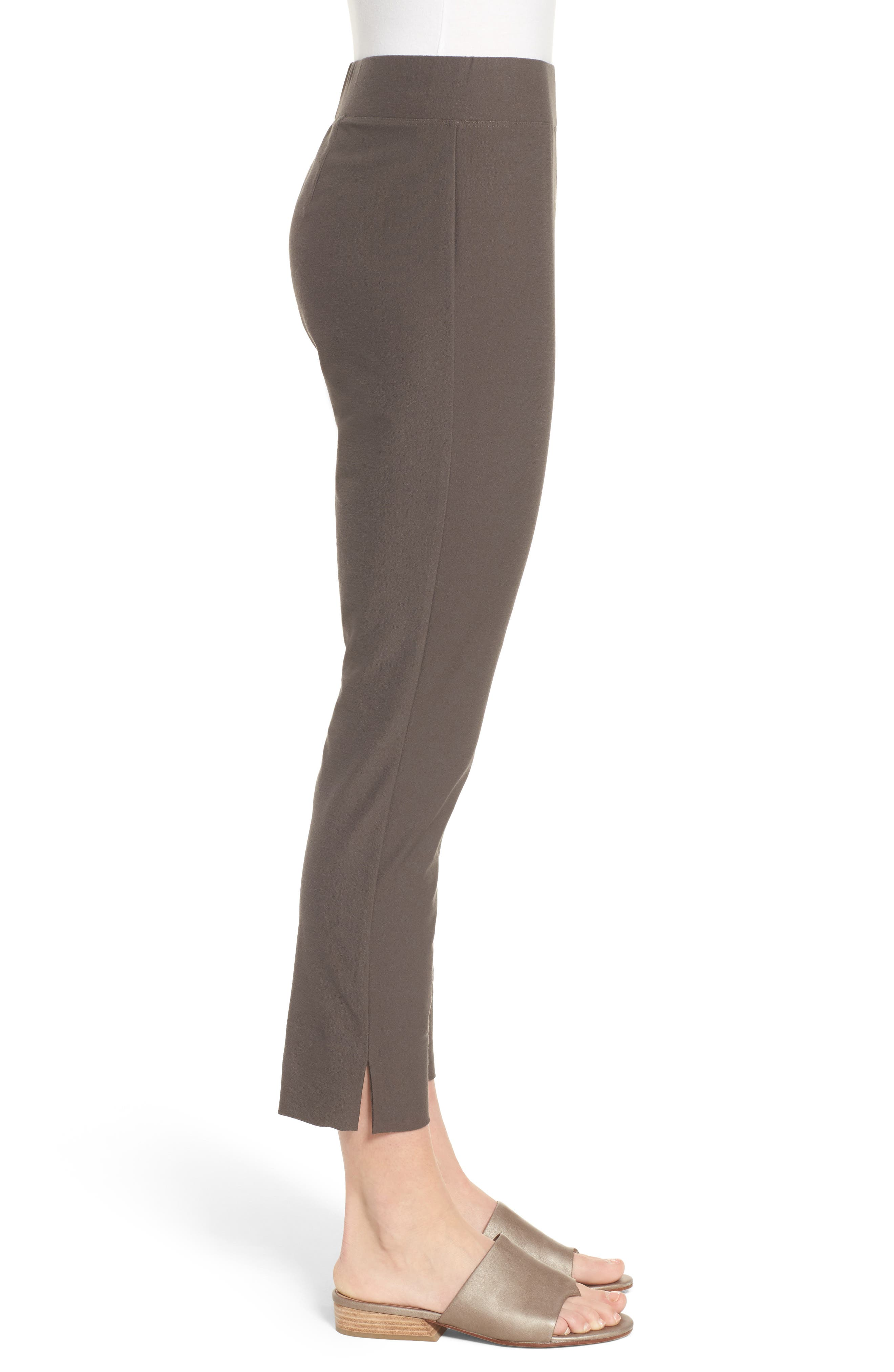 Notch Cuff Slim Crop Pants,                             Alternate thumbnail 3, color,                             Rye