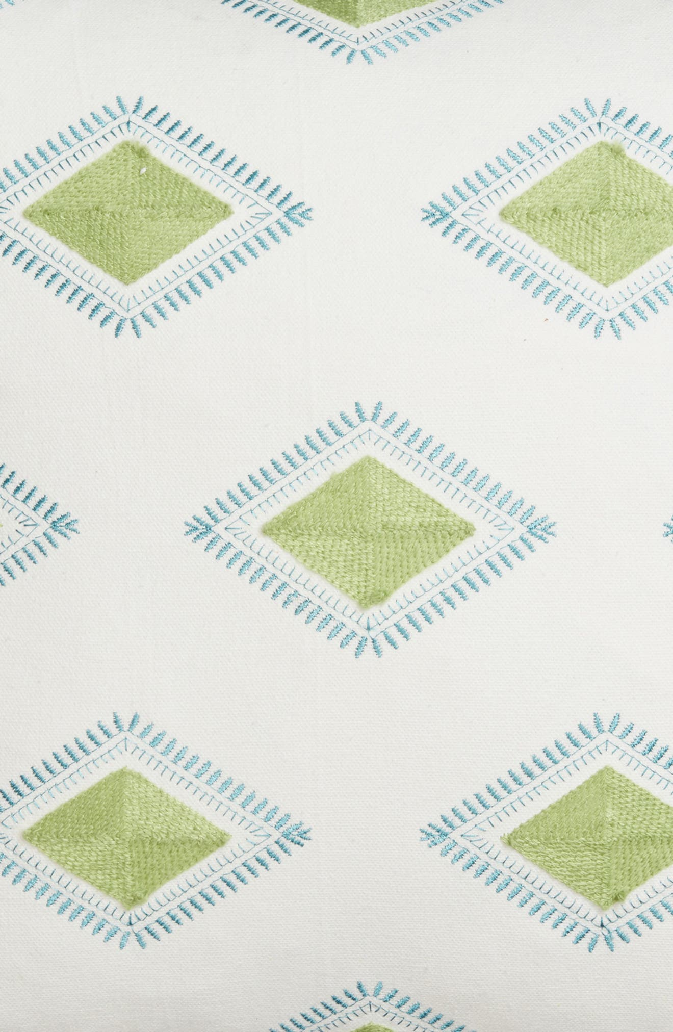 Luca Accent Pillow,                             Alternate thumbnail 4, color,                             Green