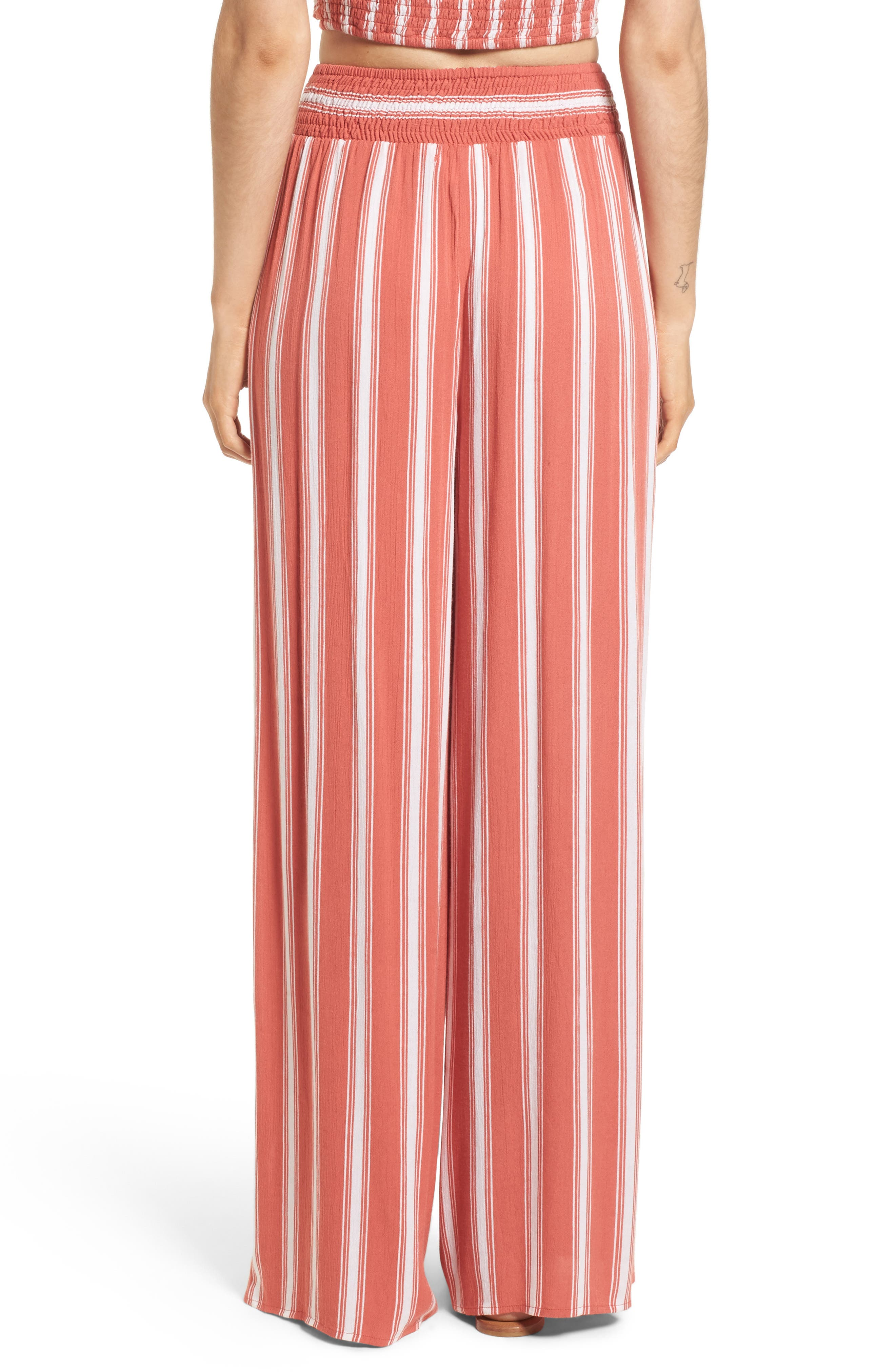 Alternate Image 3  - Band of Gypsies Stripe Split Leg Walkthrough Pants