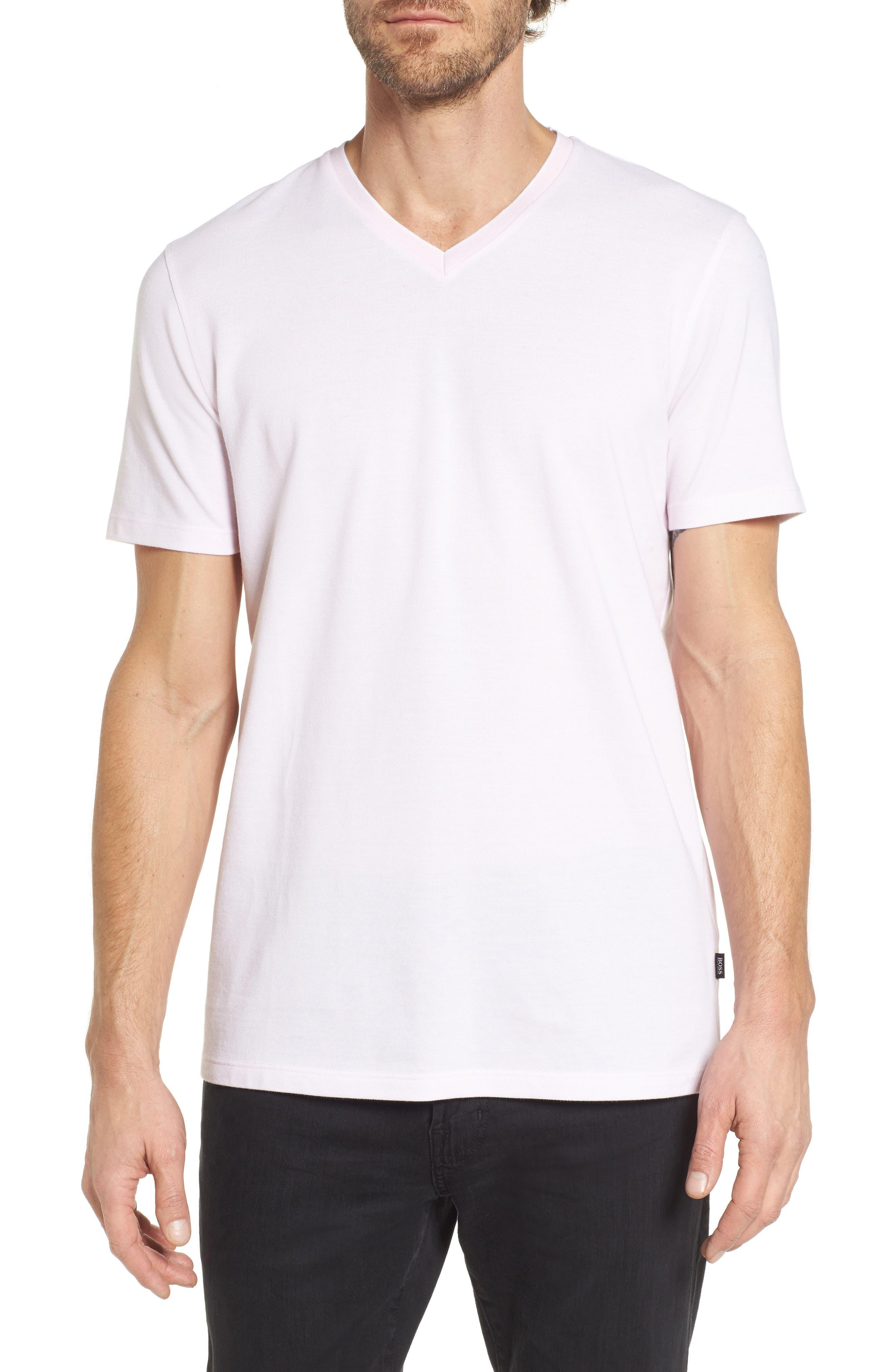 BOSS Tilson Slim Fit V-Neck T-Shirt