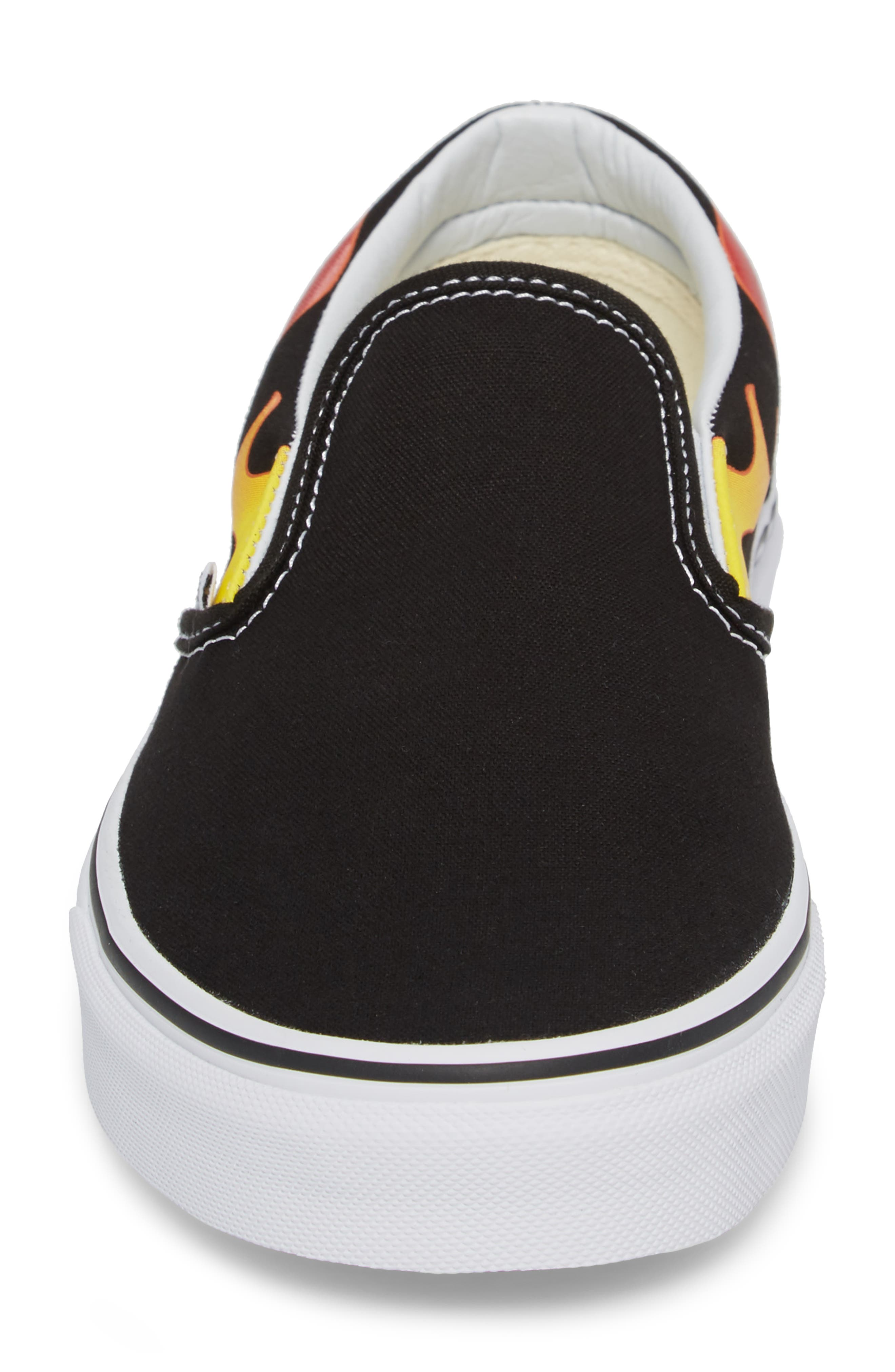 UA Classic Slip-On Sneaker,                             Alternate thumbnail 4, color,                             Black/ Black/ True White