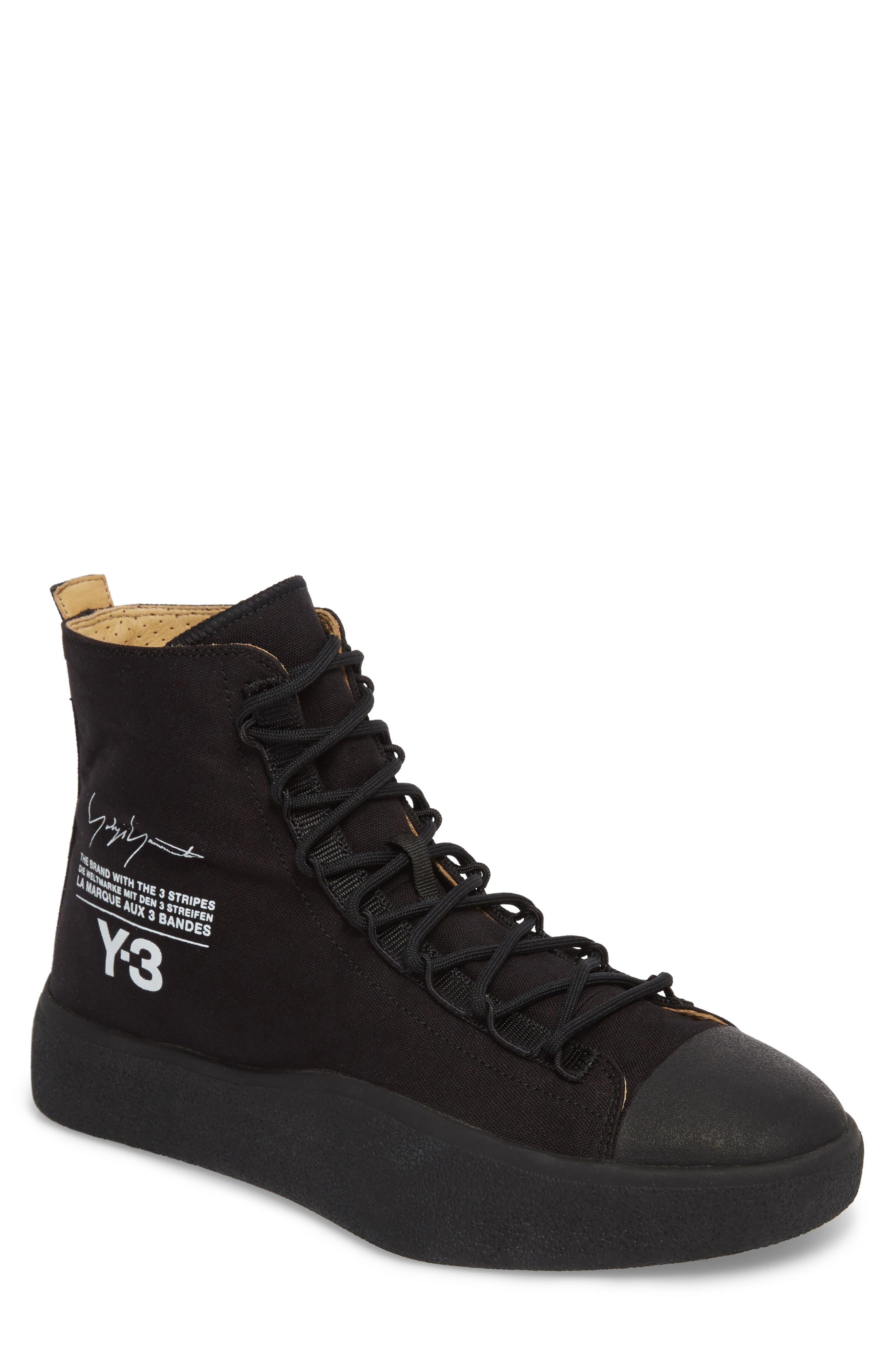 x adidas Bashyo High Top Sneaker,                         Main,                         color, Black