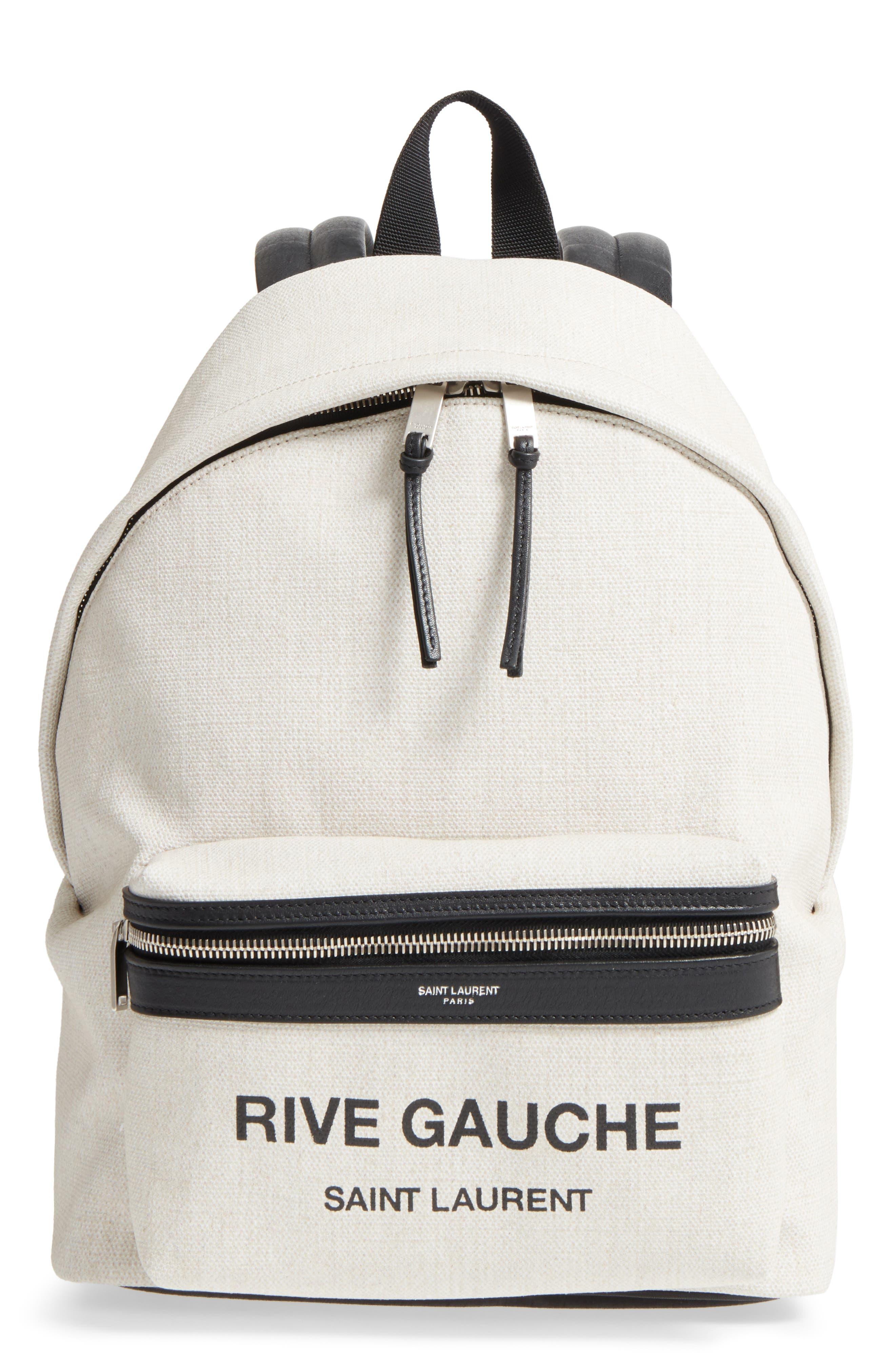 City Mini Rive Gauche Backpack,                             Main thumbnail 1, color,                             Canvas