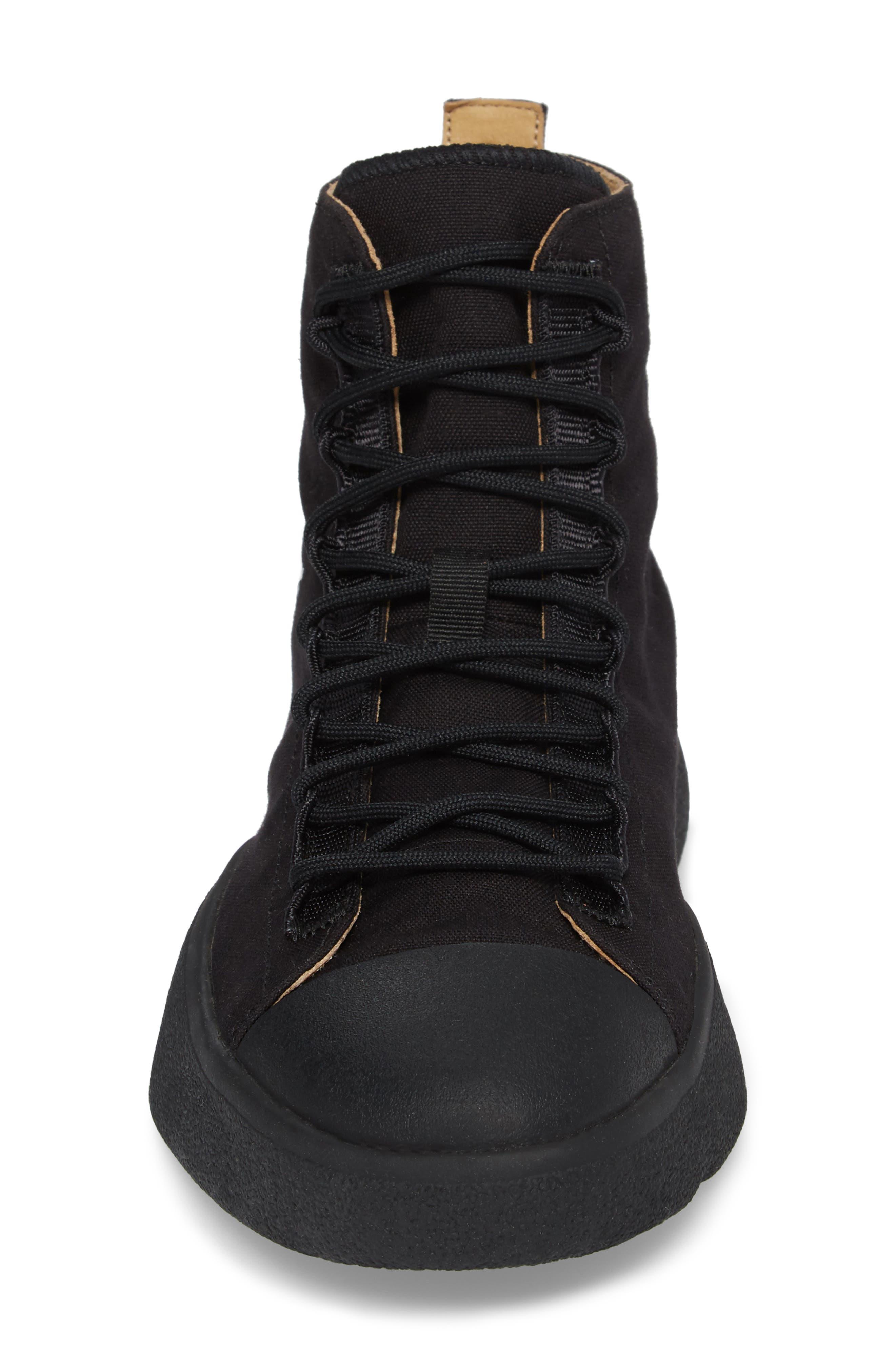 x adidas Bashyo High Top Sneaker,                             Alternate thumbnail 4, color,                             Black
