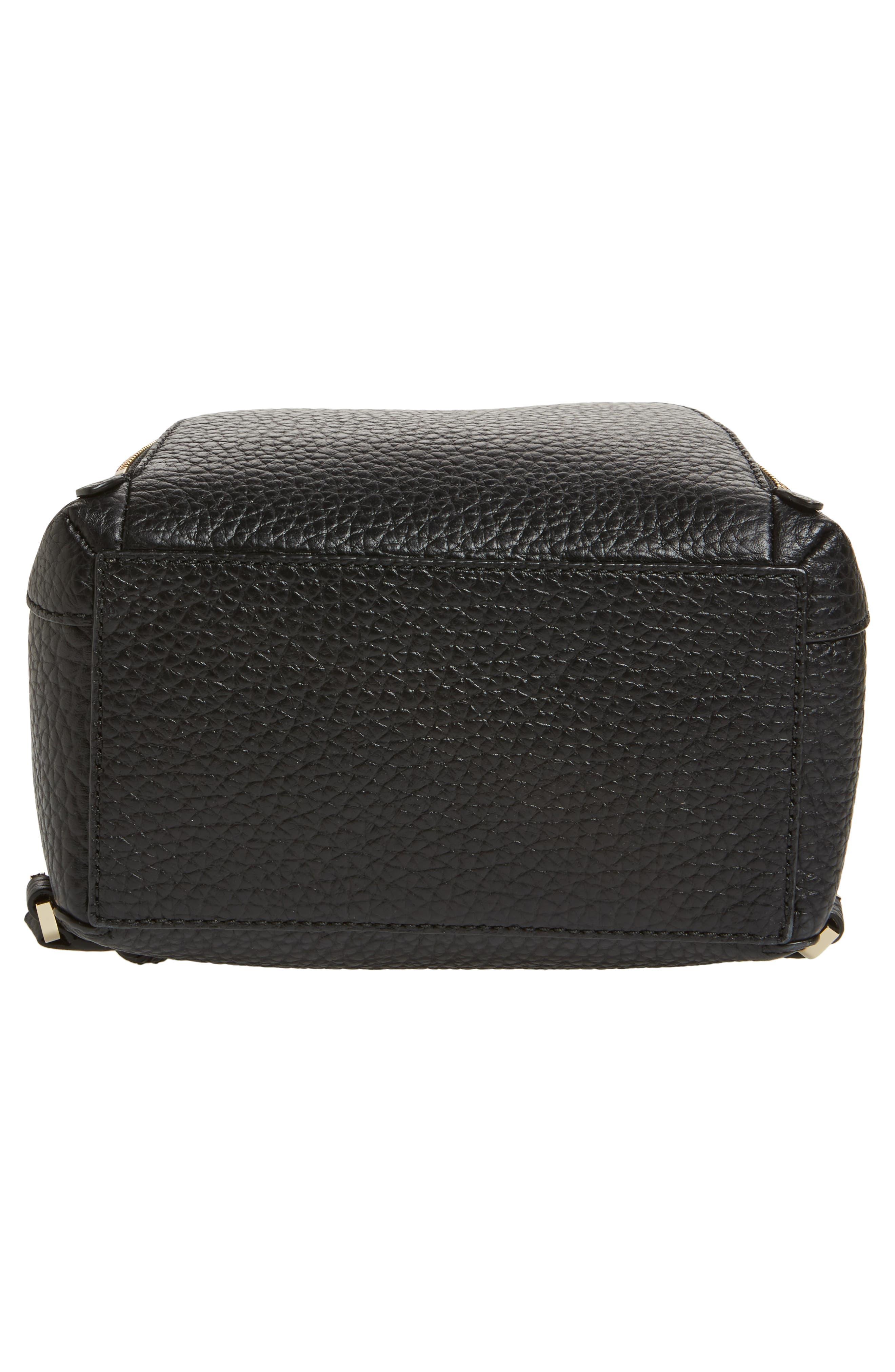 carter street - caden leather backpack,                             Alternate thumbnail 6, color,                             Black