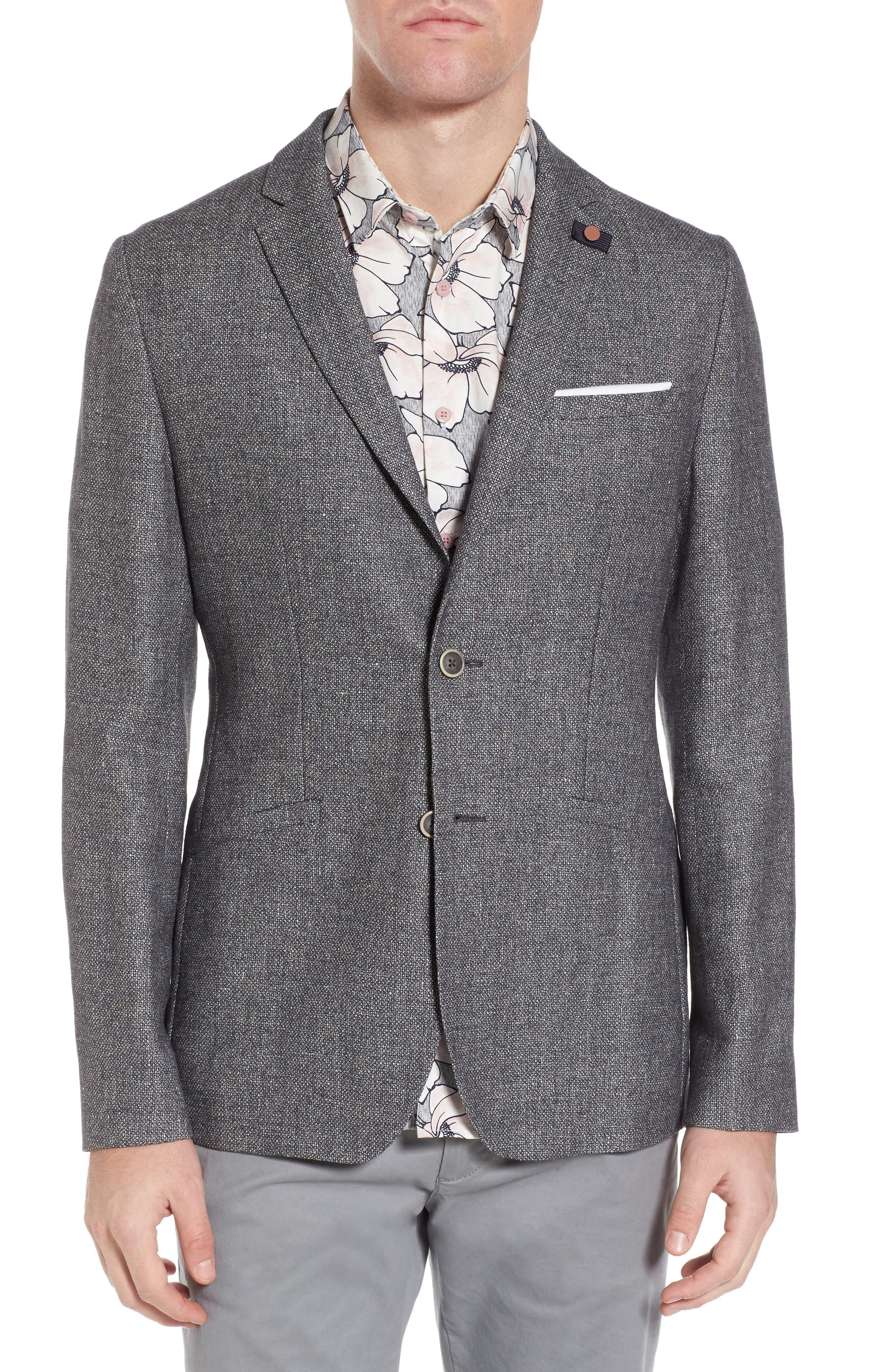 Ted Baker London Milar Trim Fit Wool & Linen Sport Coat