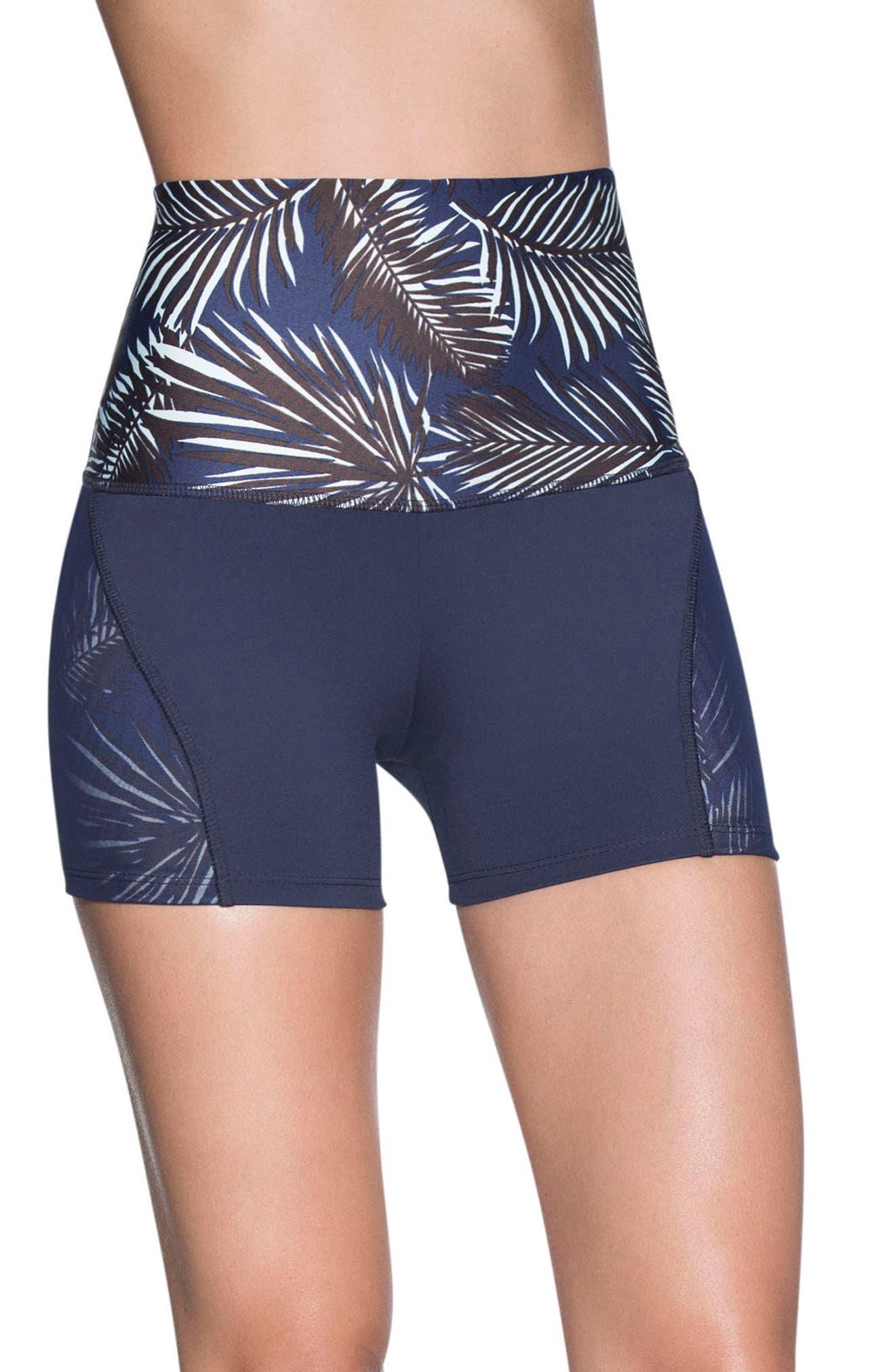 Cobra High Waist Shorts,                             Main thumbnail 1, color,                             Multicolor