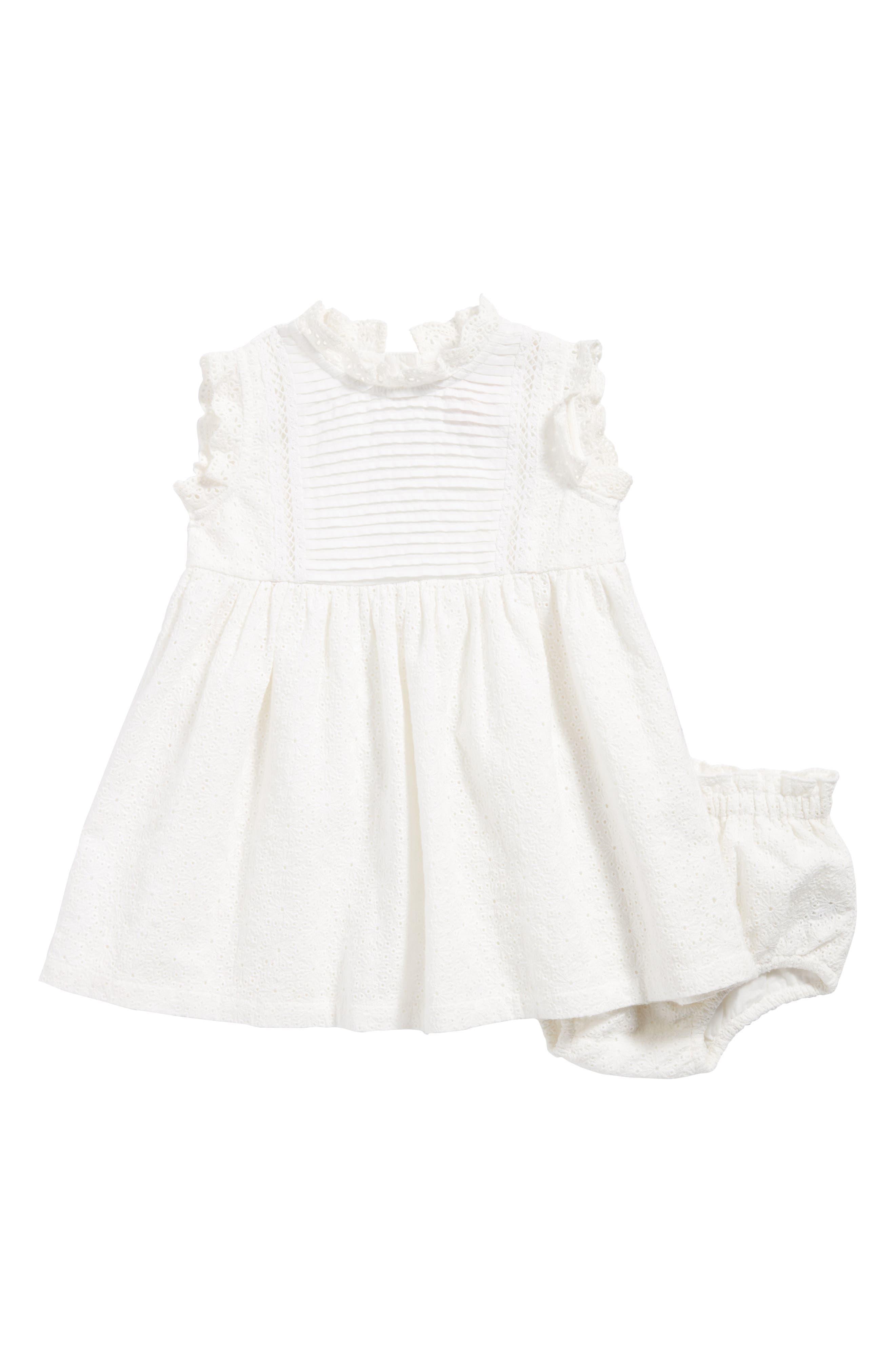 Lace Dress,                             Main thumbnail 1, color,                             White