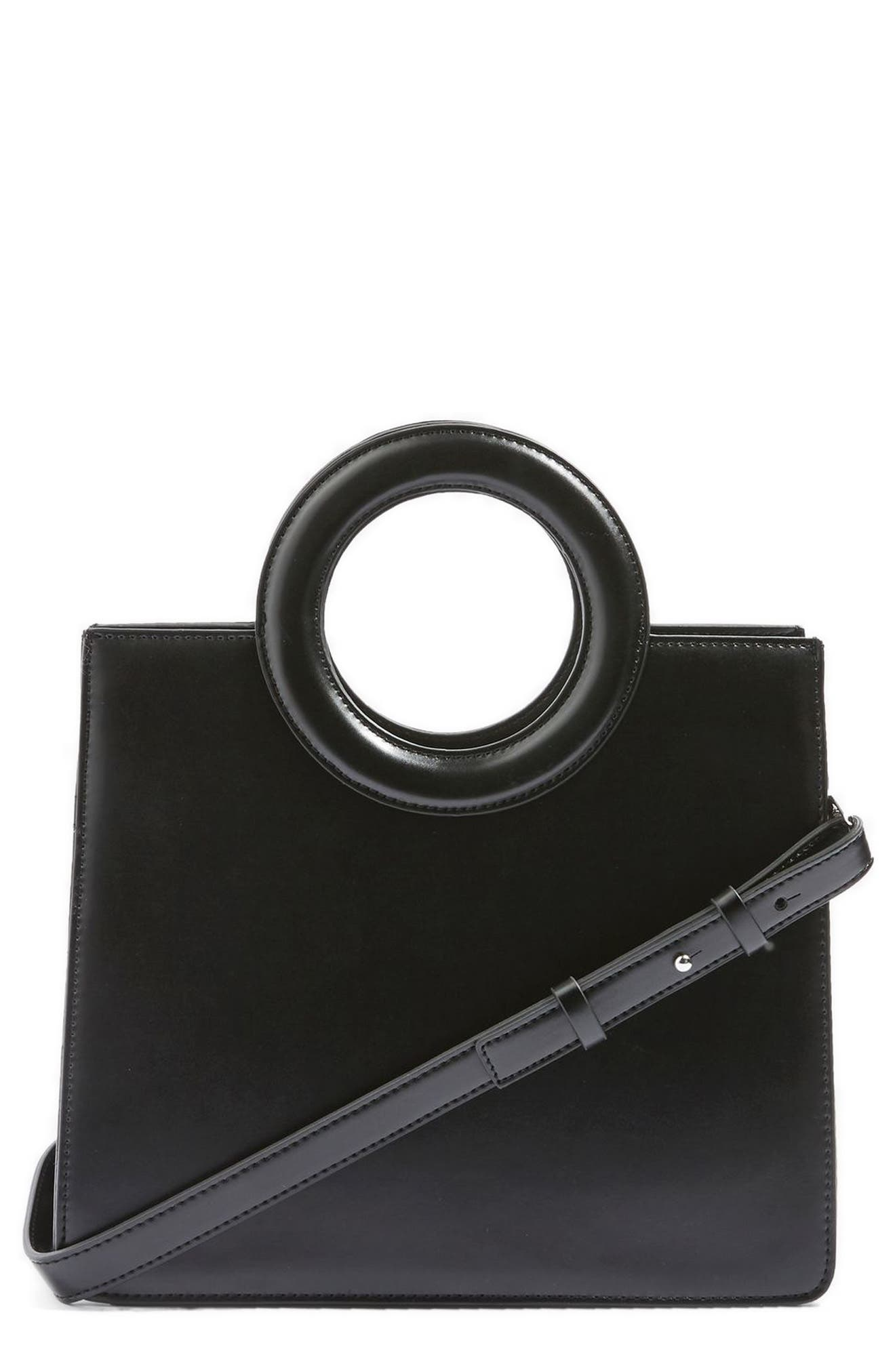 Topshop Shasta Faux Leather Crossbody Bag