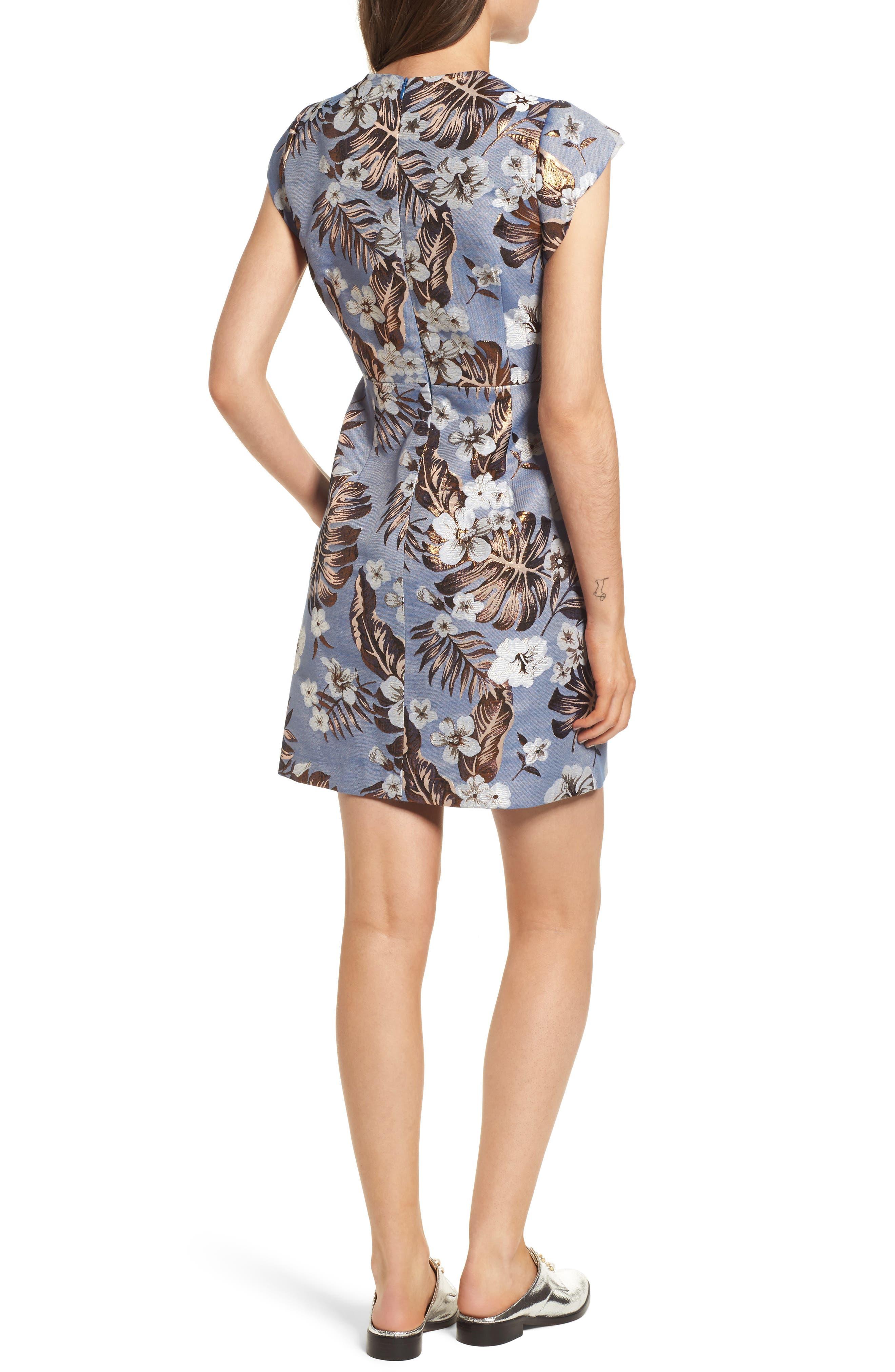 Solaire Sheath Dress,                             Alternate thumbnail 2, color,                             Denim