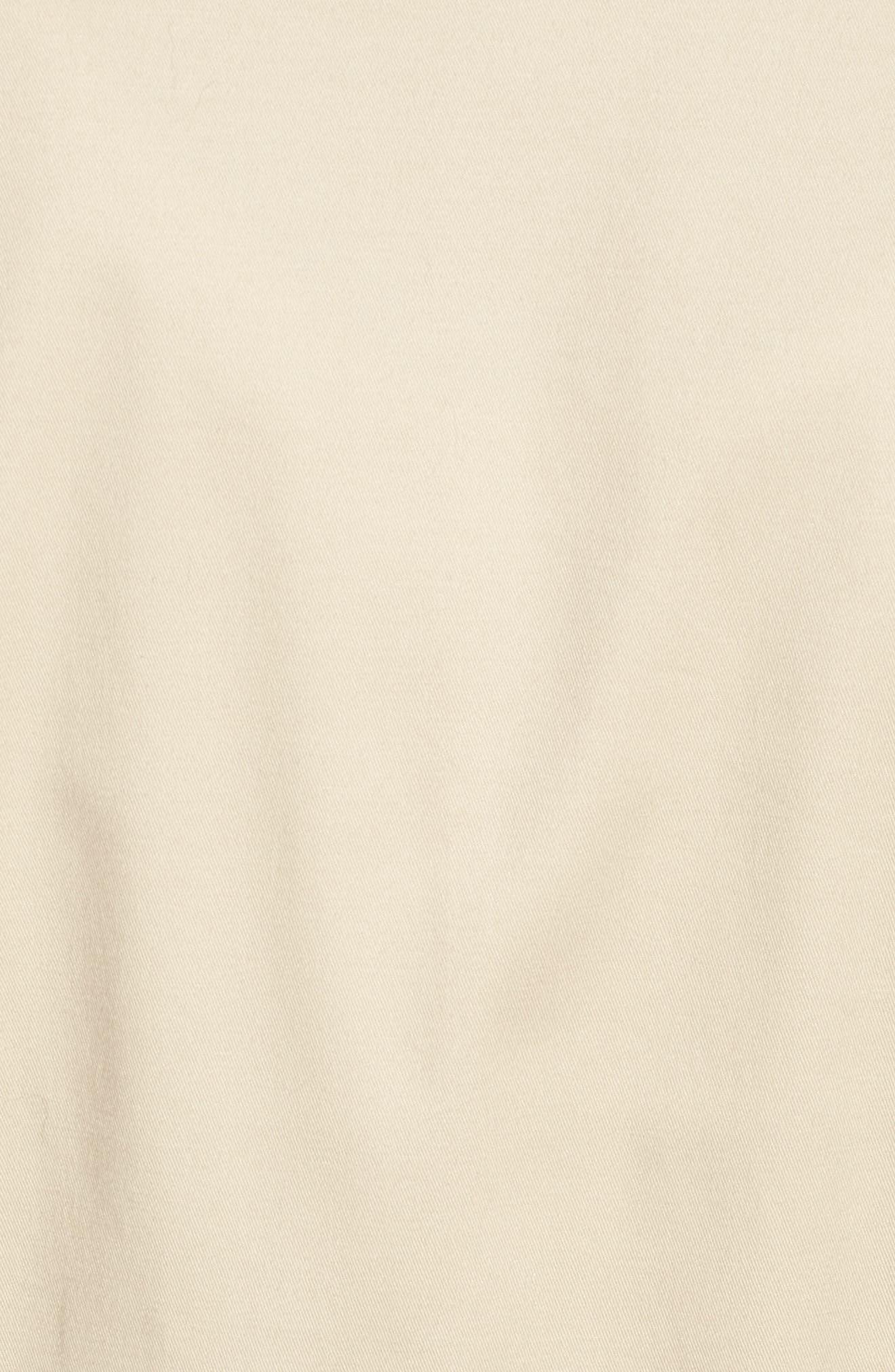 Asymmetrical Zip Peplum Jacket,                             Alternate thumbnail 5, color,                             Tan Oxford