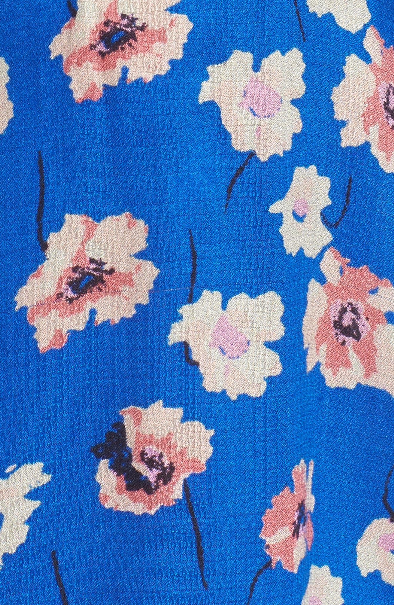 Alternate Image 5  - Lucky Brand Split Sleeve Tie Neck Blouse