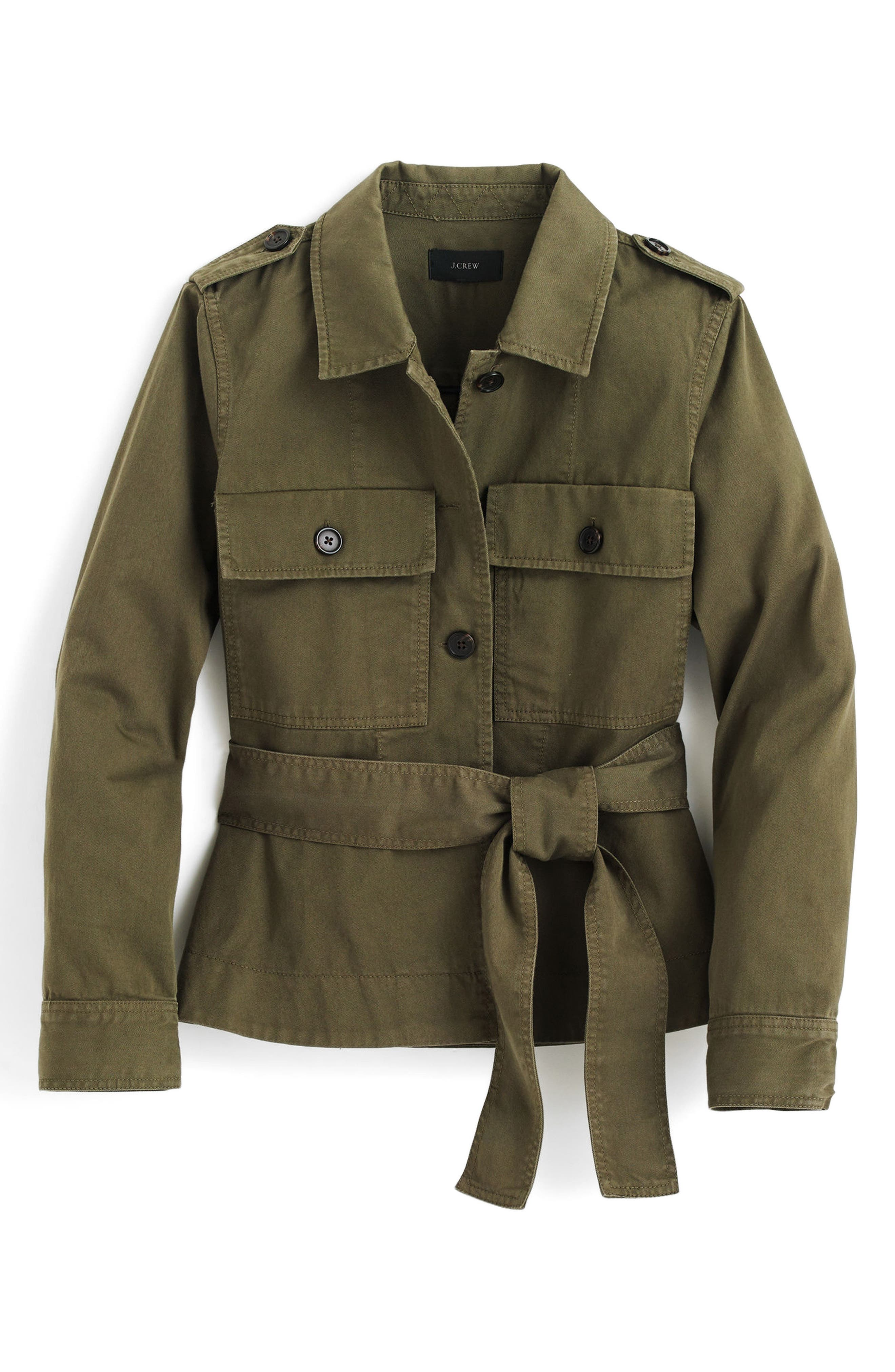 Cropped Fatigue Jacket,                             Alternate thumbnail 4, color,                             Tuscan Olive