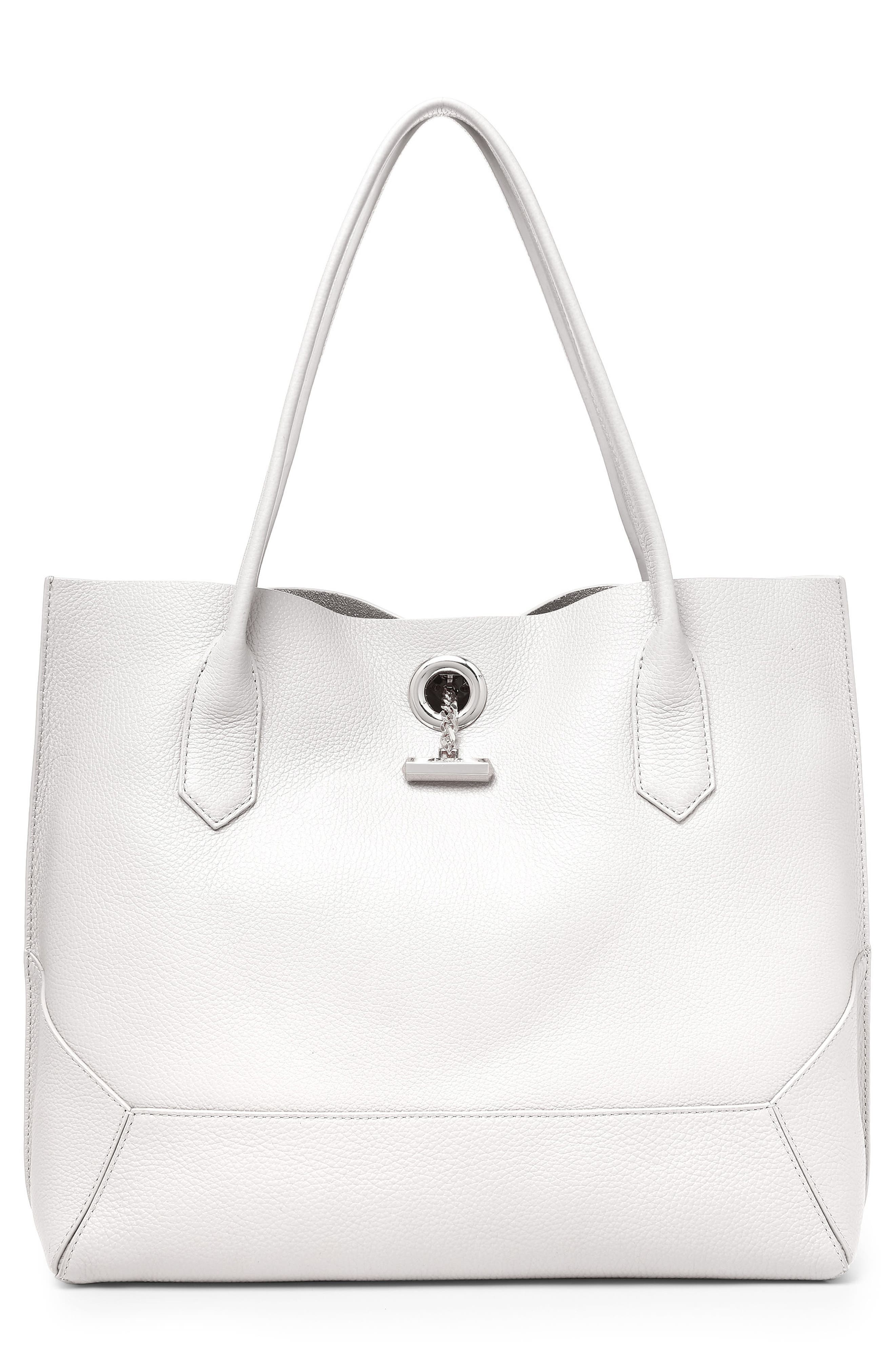 Waverly Leather Tote,                             Main thumbnail 1, color,                             Chalk