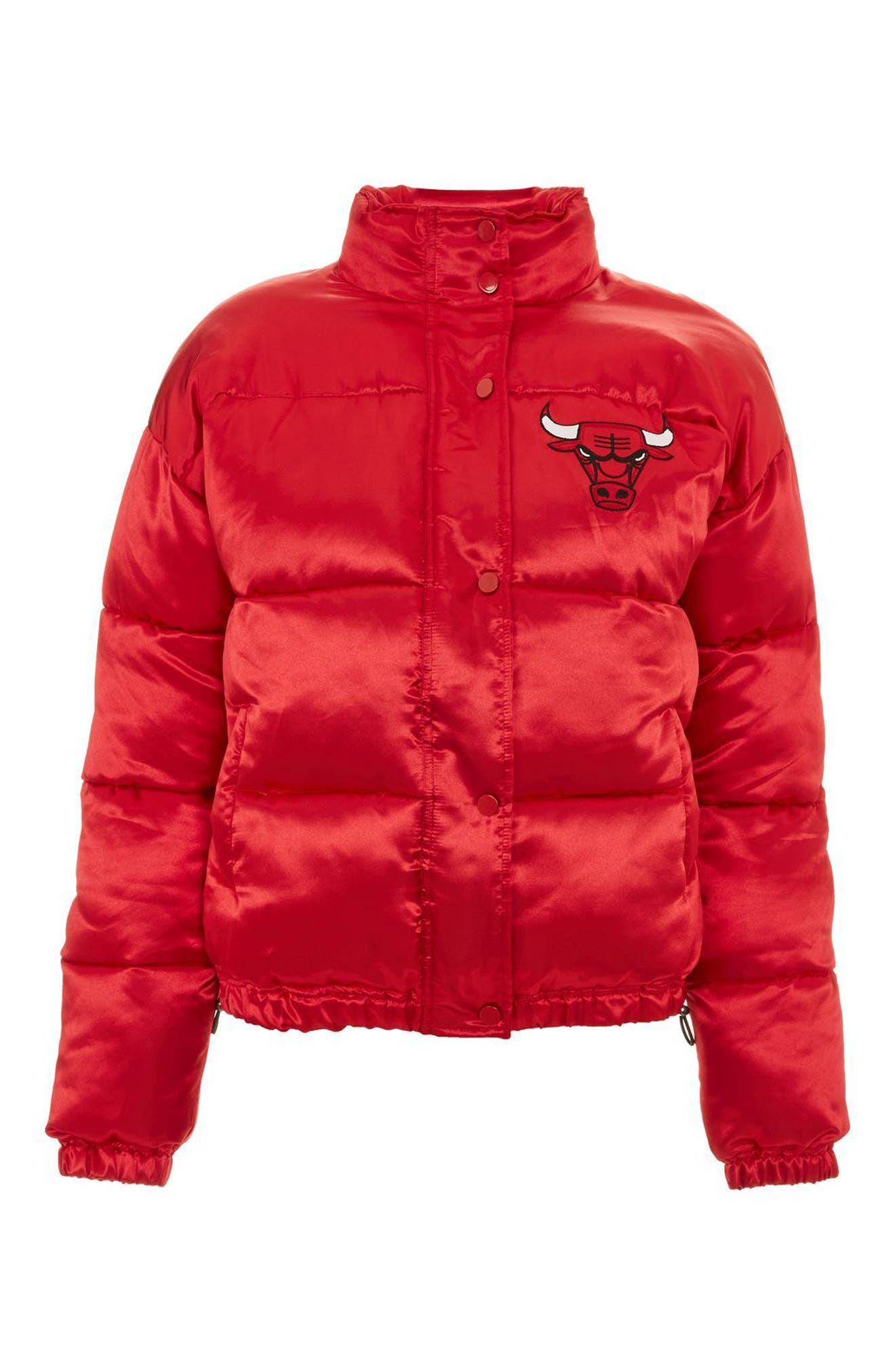 x UNK Chicago Bulls Puffer Jacket,                             Main thumbnail 1, color,                             Red