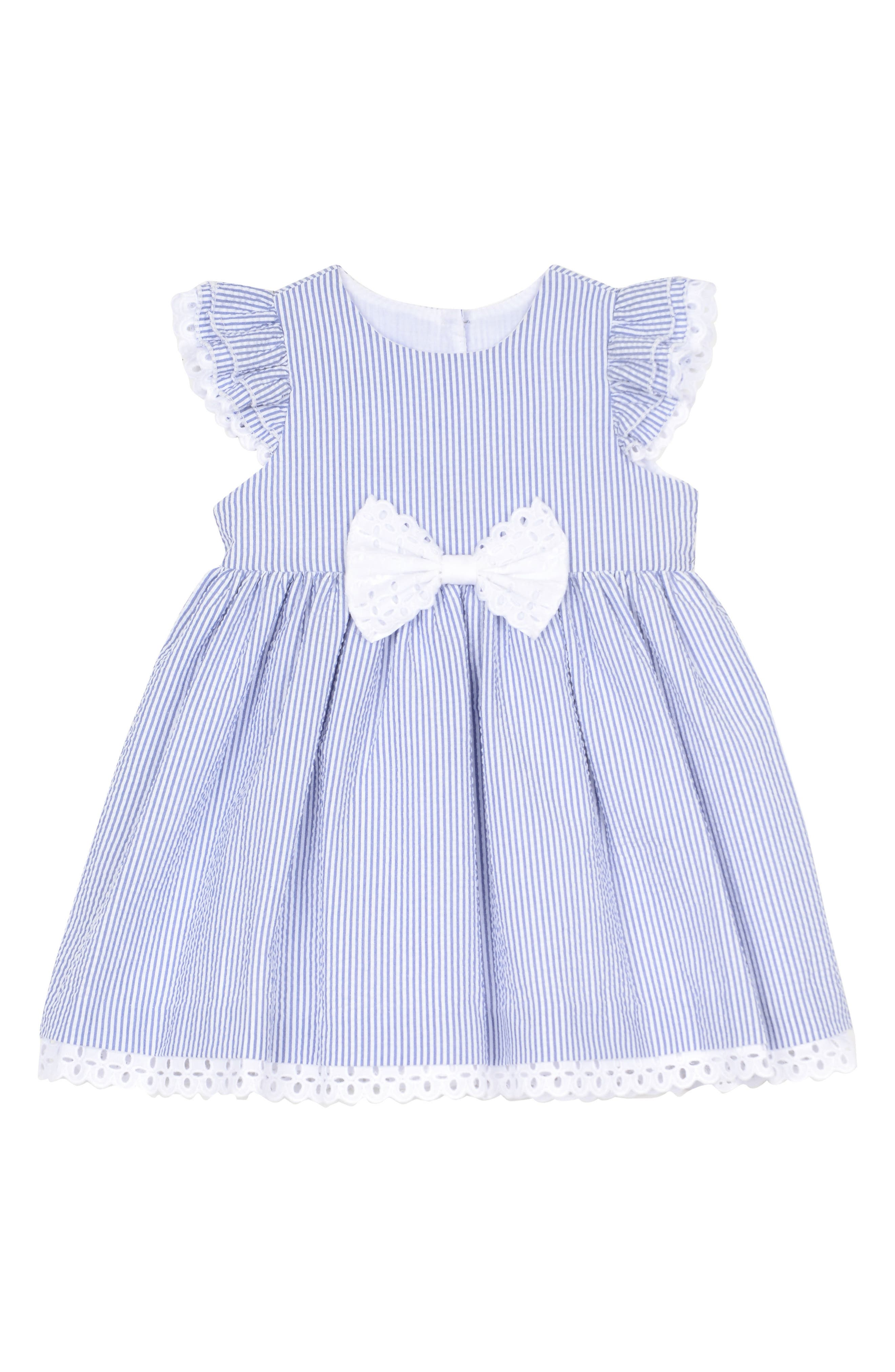Pippa & Julie Ruffle Seersucker Dress (Toddler Girls & Little Girls)