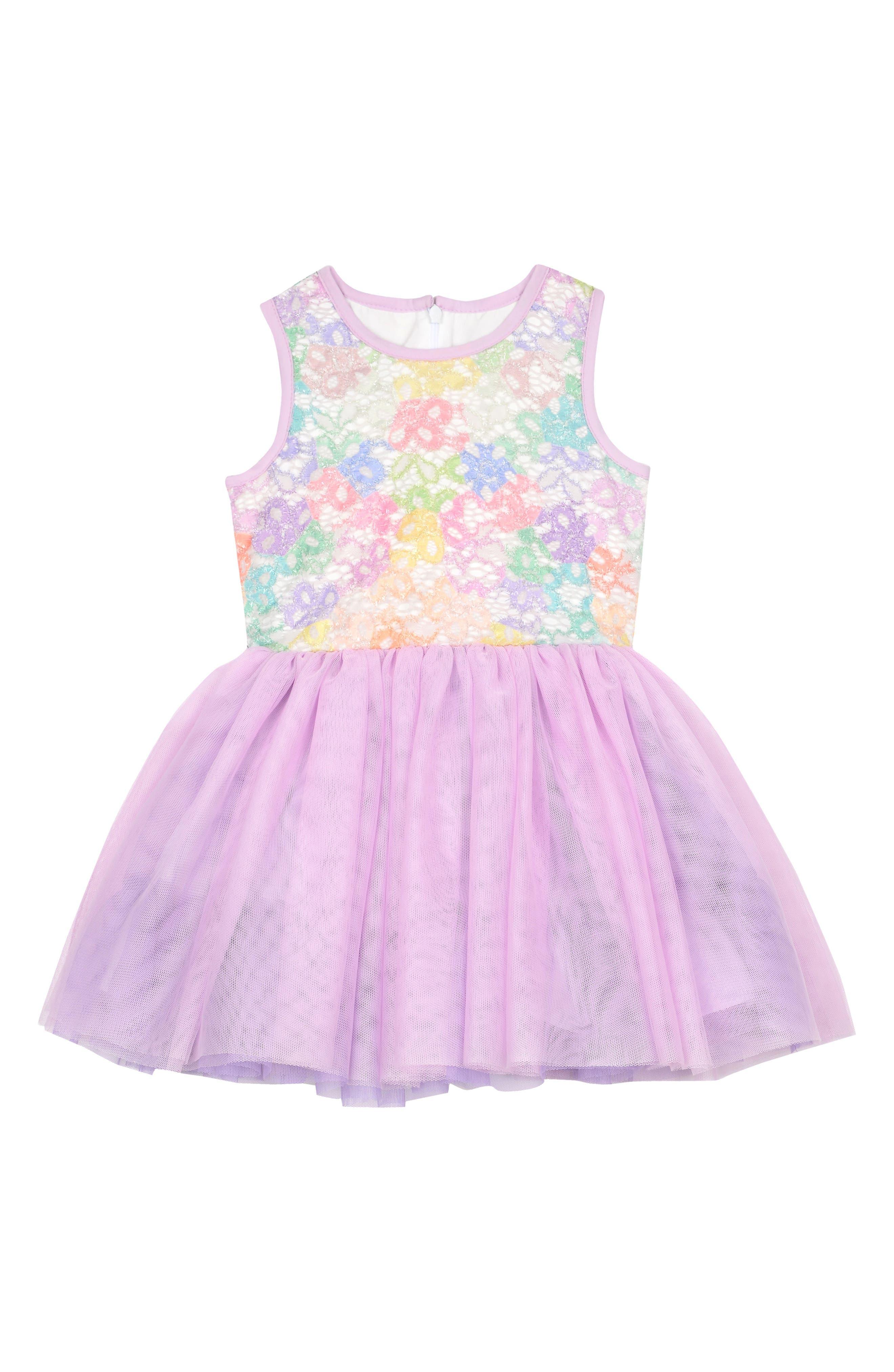 Pippa & Julie Rainbow Tulle Dress (Toddler Girls, Little Girls & Big Girls)