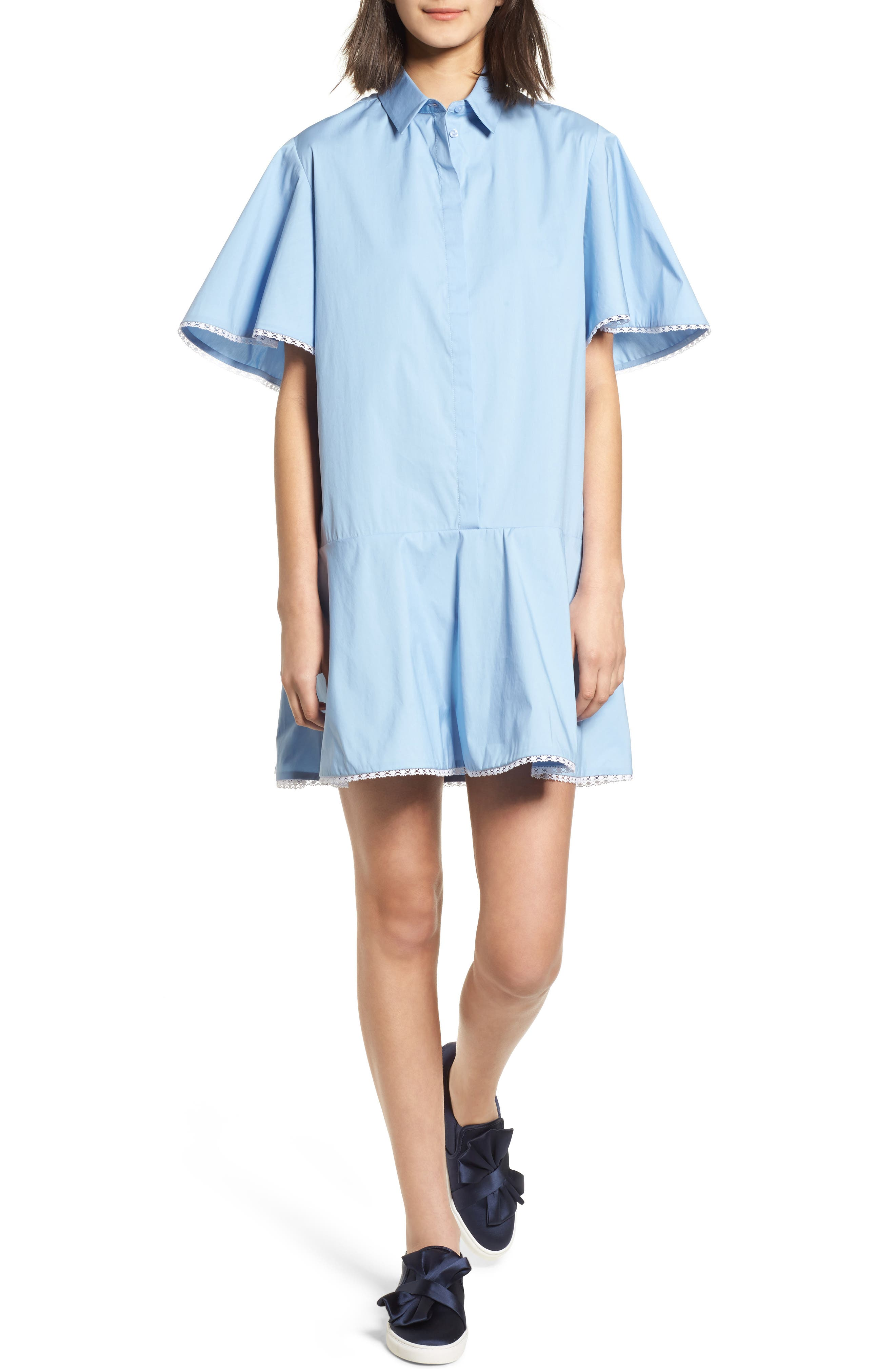 Baby Dress,                             Main thumbnail 1, color,                             Blue