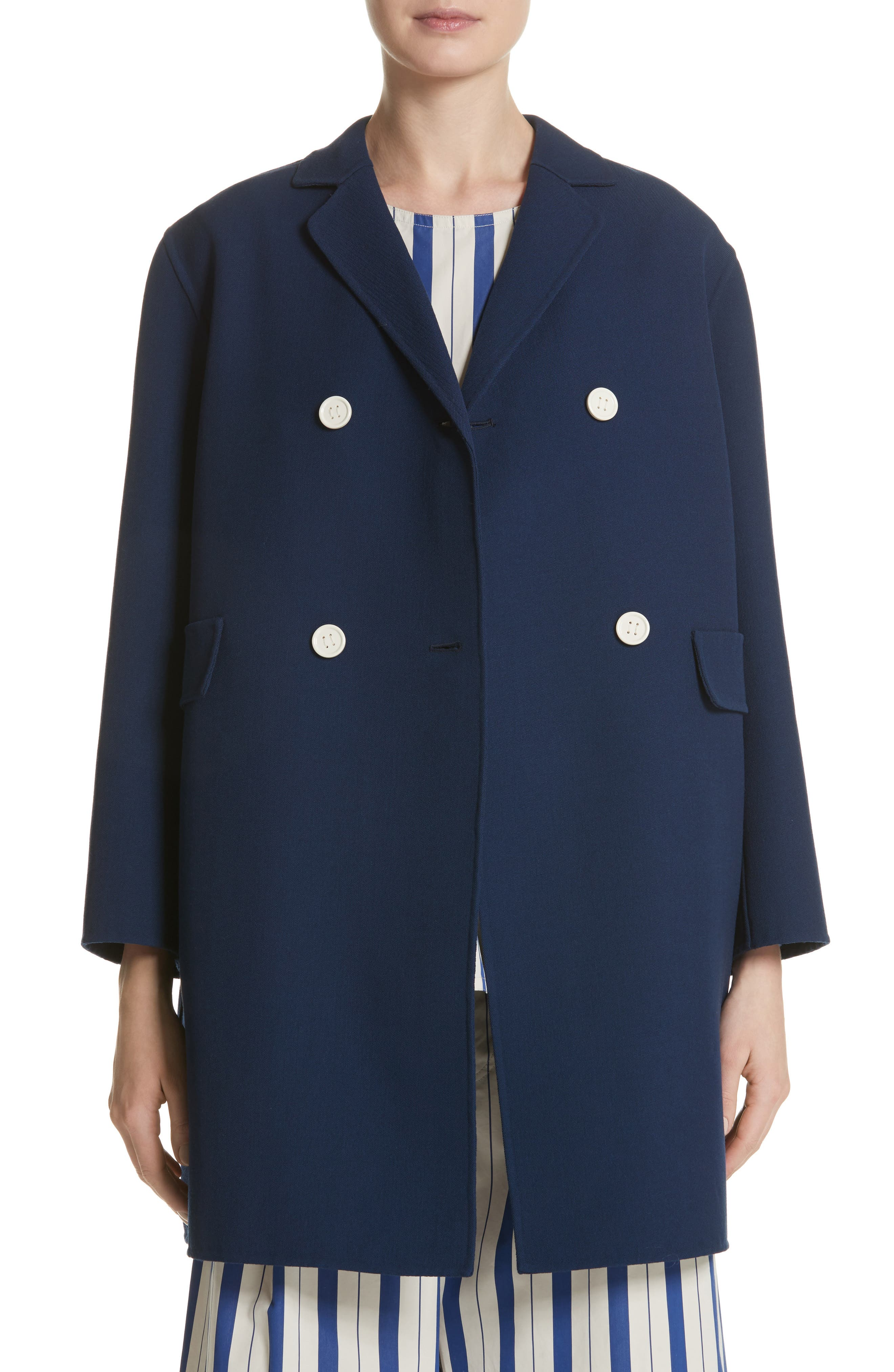 Contrast Button Peacoat,                         Main,                         color, Navy