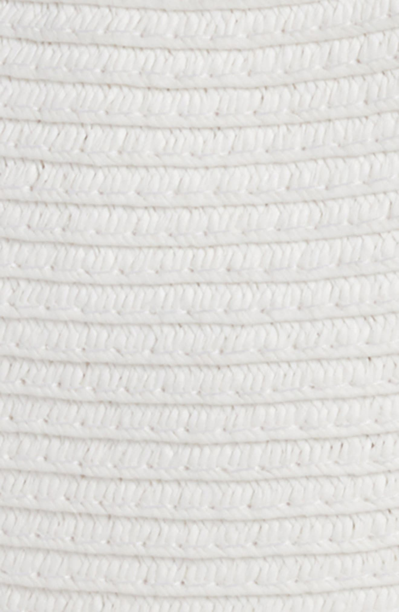 Coin Embellished Straw Fedora,                             Alternate thumbnail 2, color,                             White/ Gold