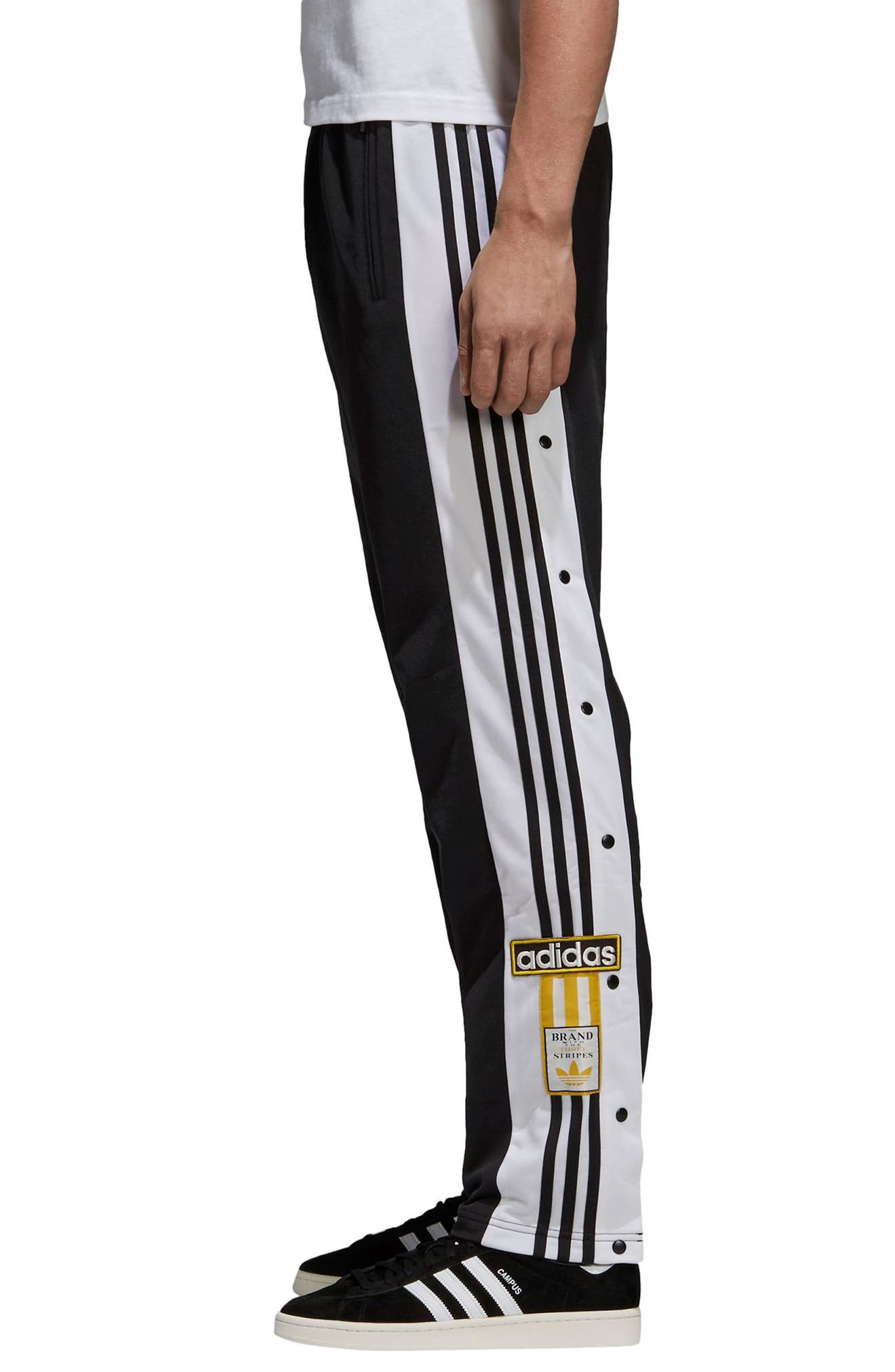 Adibreak Track Pants,                             Alternate thumbnail 3, color,                             Black