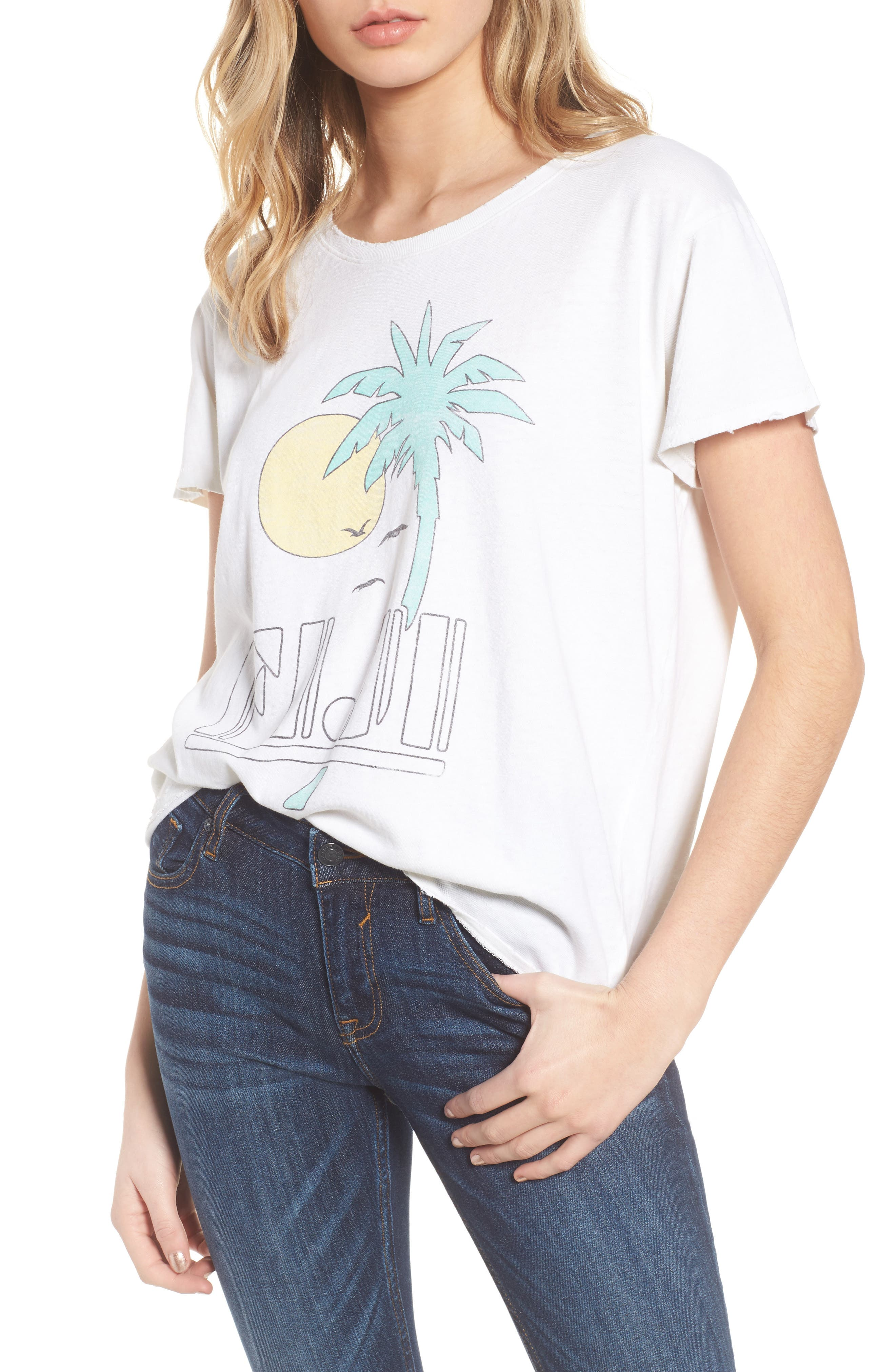 Fiji Tee,                         Main,                         color, Vintage White