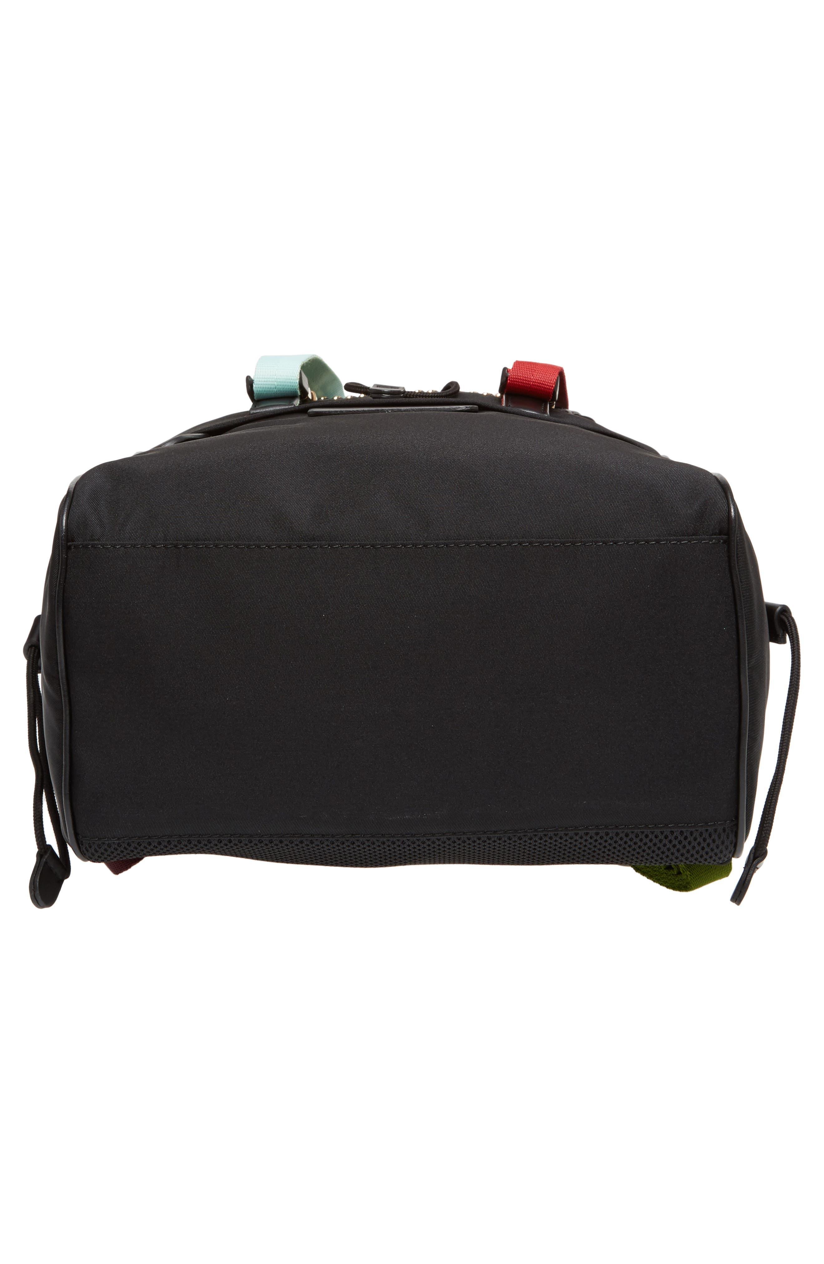 Small Eco Nylon Backpack,                             Alternate thumbnail 6, color,                             Black Multi