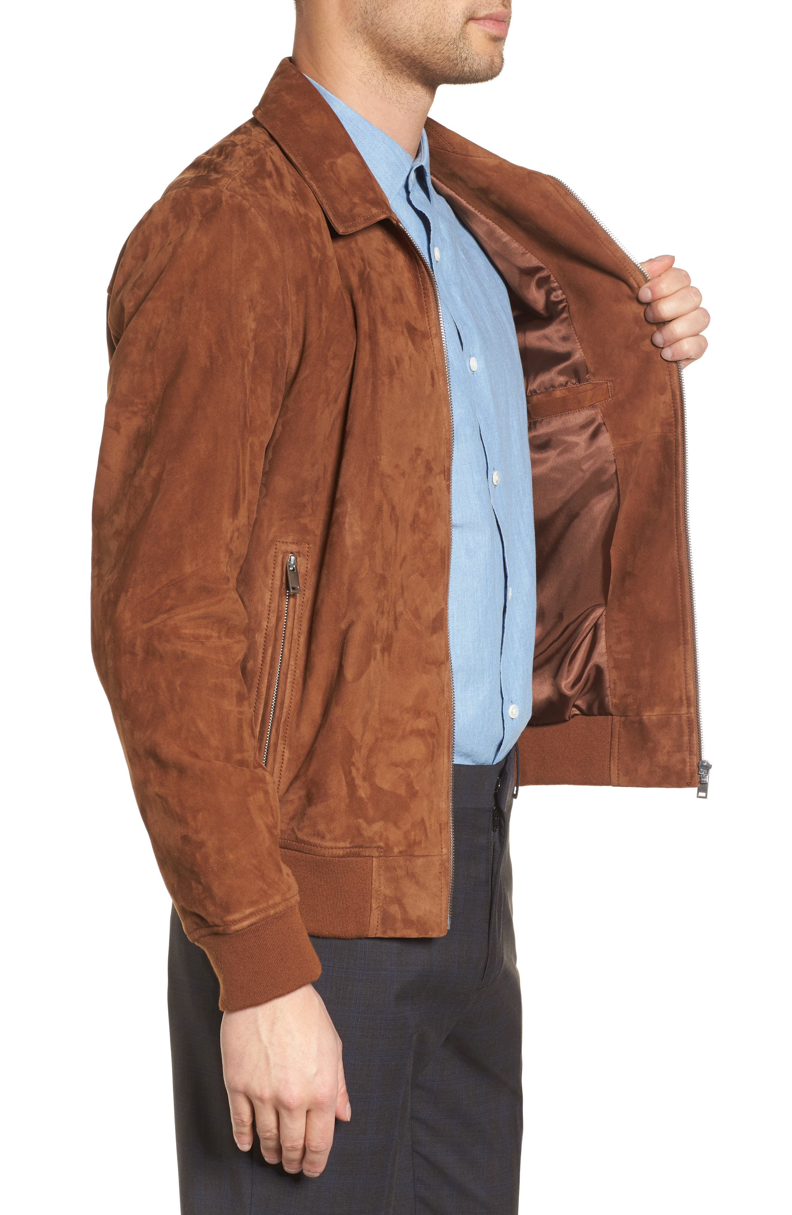 Noland Radic Lambskin Jacket,                             Alternate thumbnail 4, color,                             Tobacco