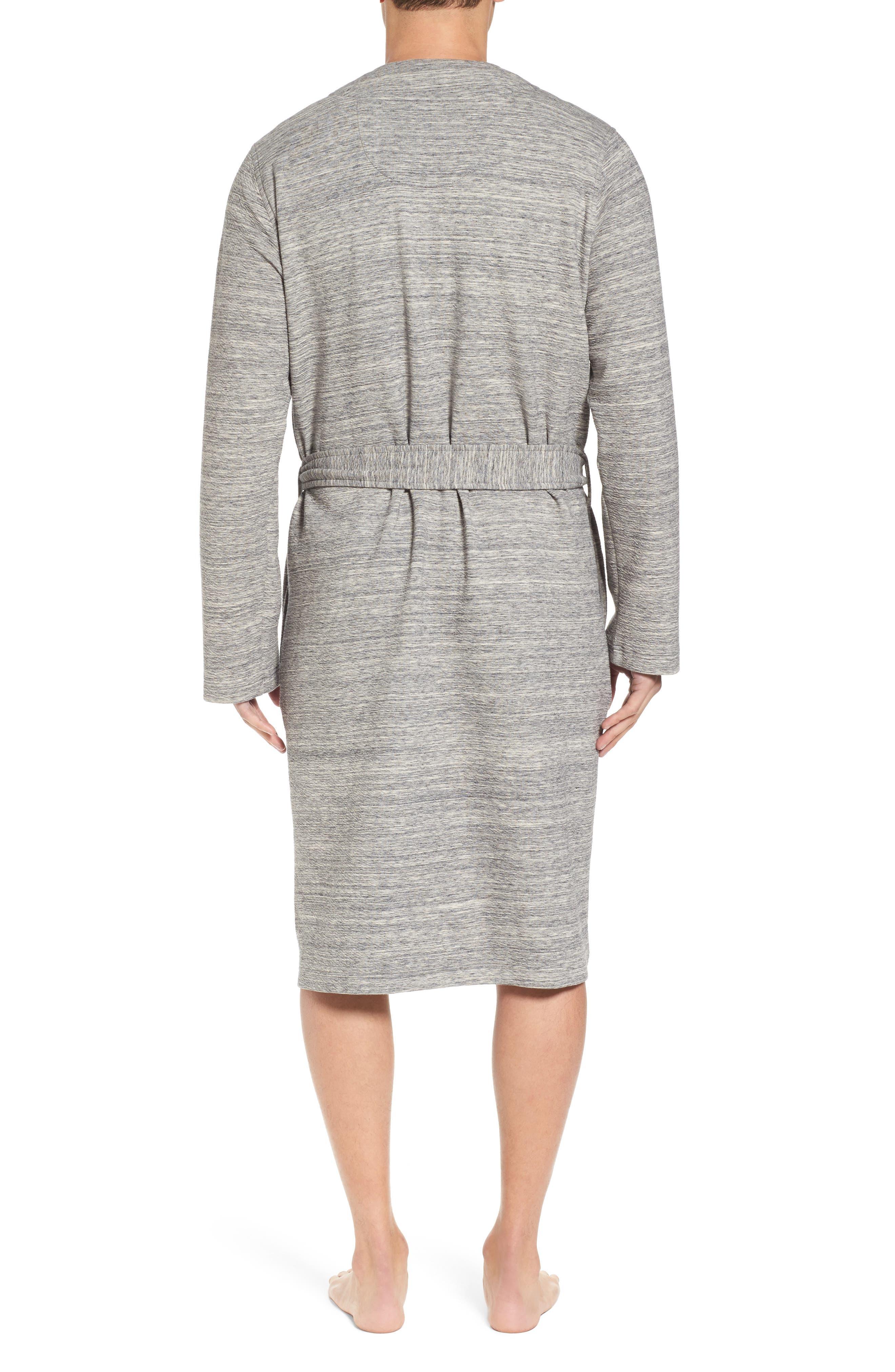 Kent Cotton Blend Robe,                             Alternate thumbnail 2, color,                             Black Heather