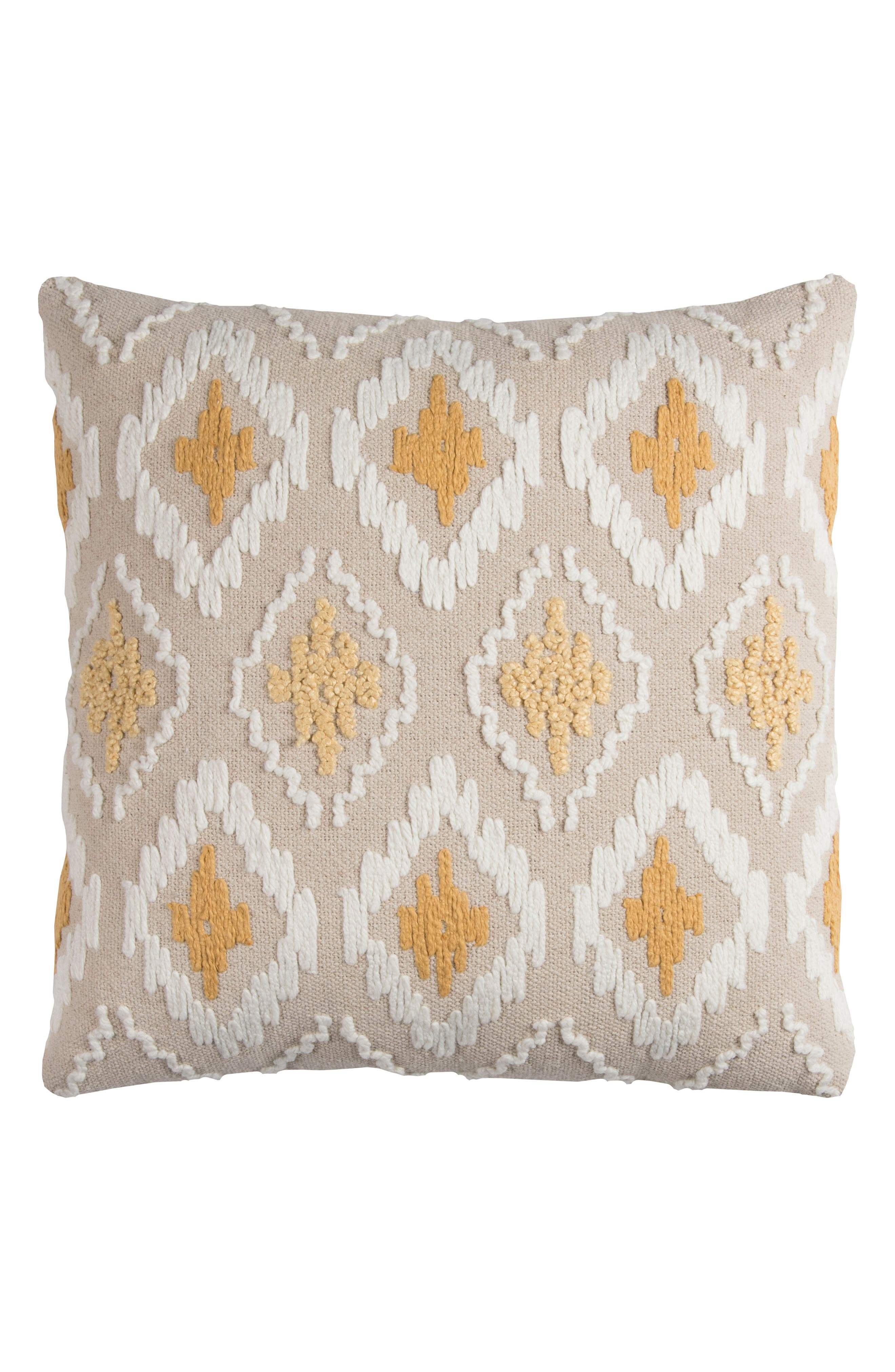 Diamond Pillow,                             Main thumbnail 1, color,                             Gold