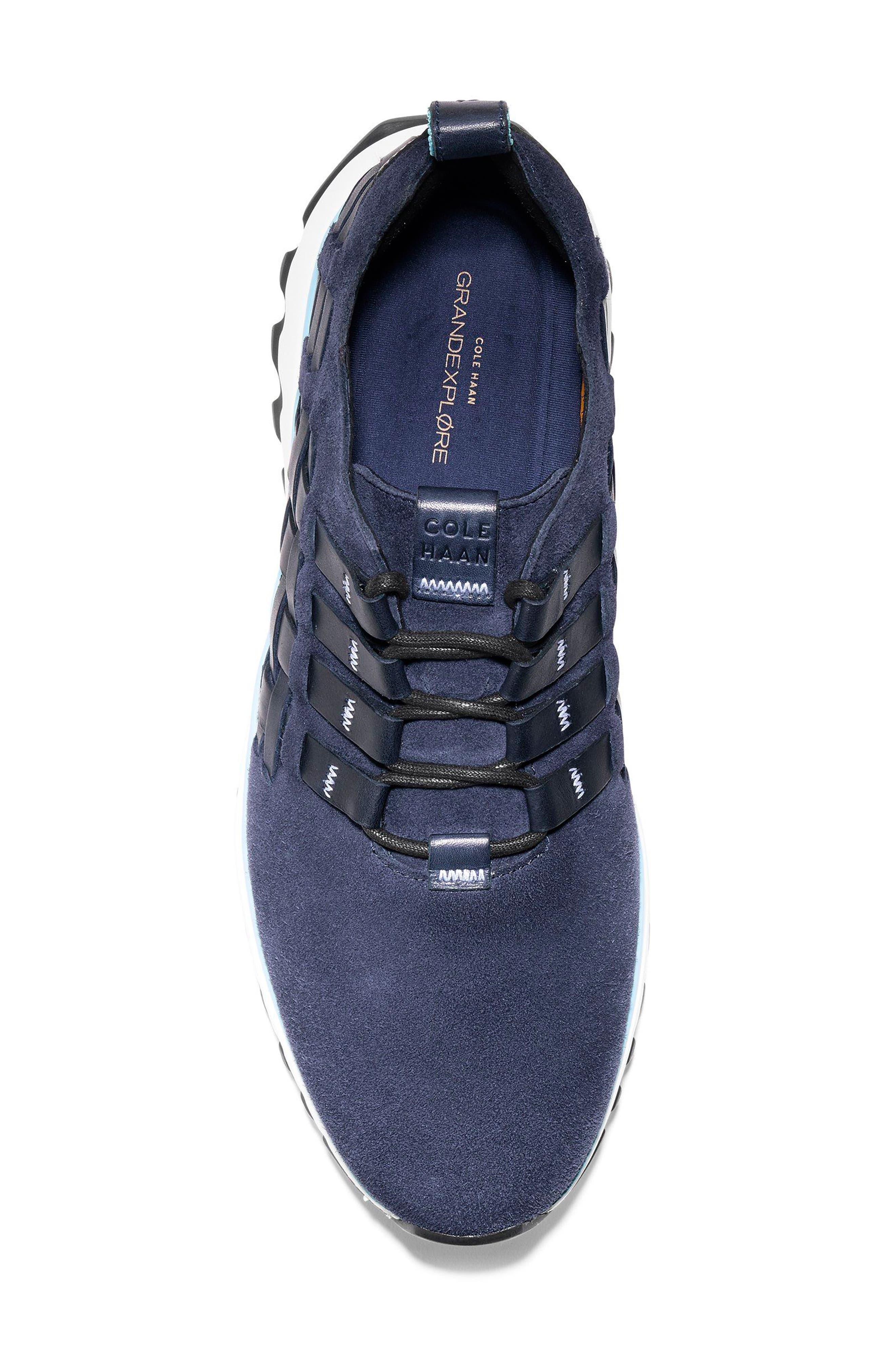 GrandExplore All Terrain Woven Sneaker,                             Alternate thumbnail 5, color,                             Marine Blue/Optic White/Black