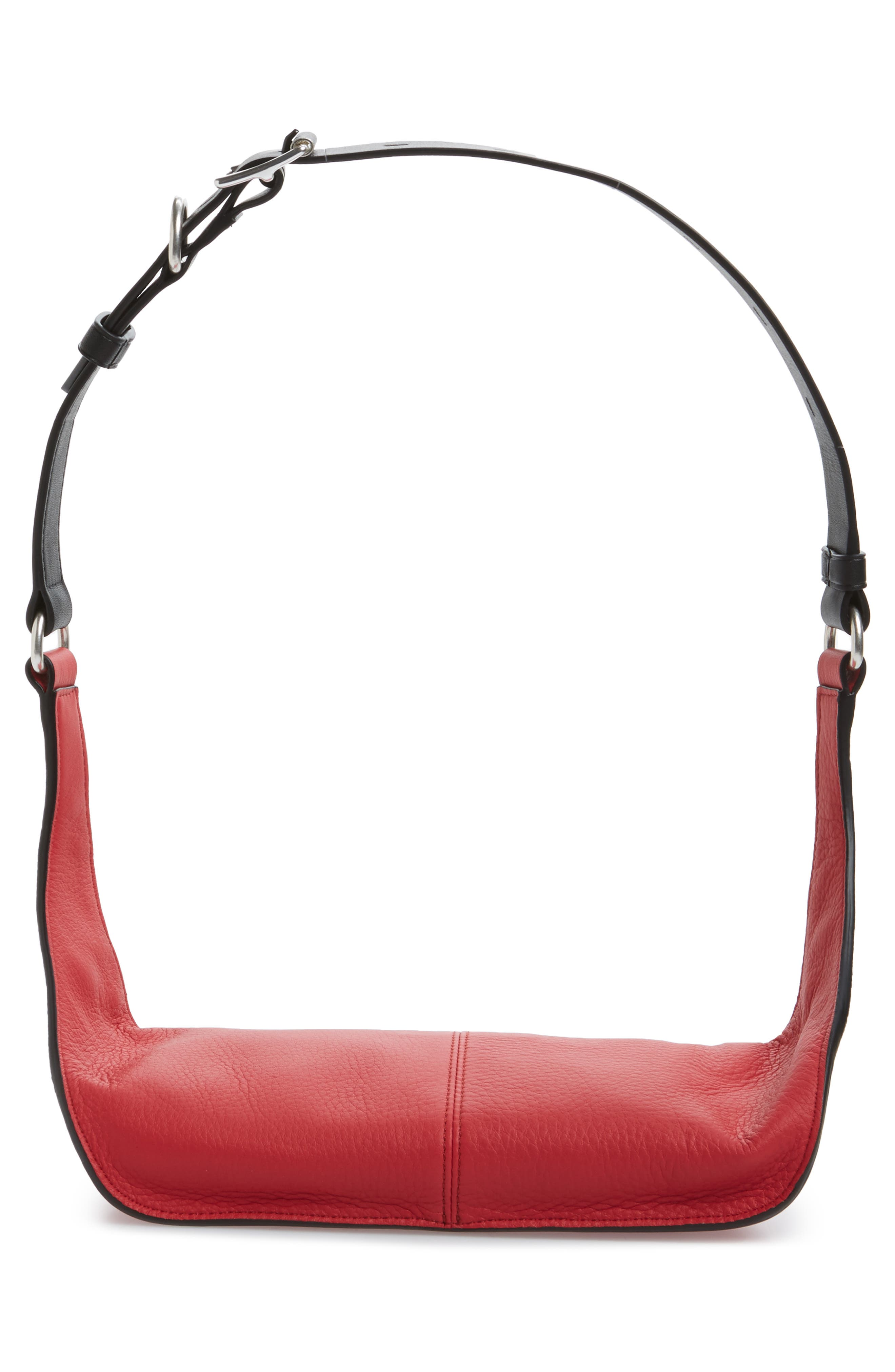 Large Ellis Leather Belt Bag,                             Alternate thumbnail 6, color,                             Teaberry