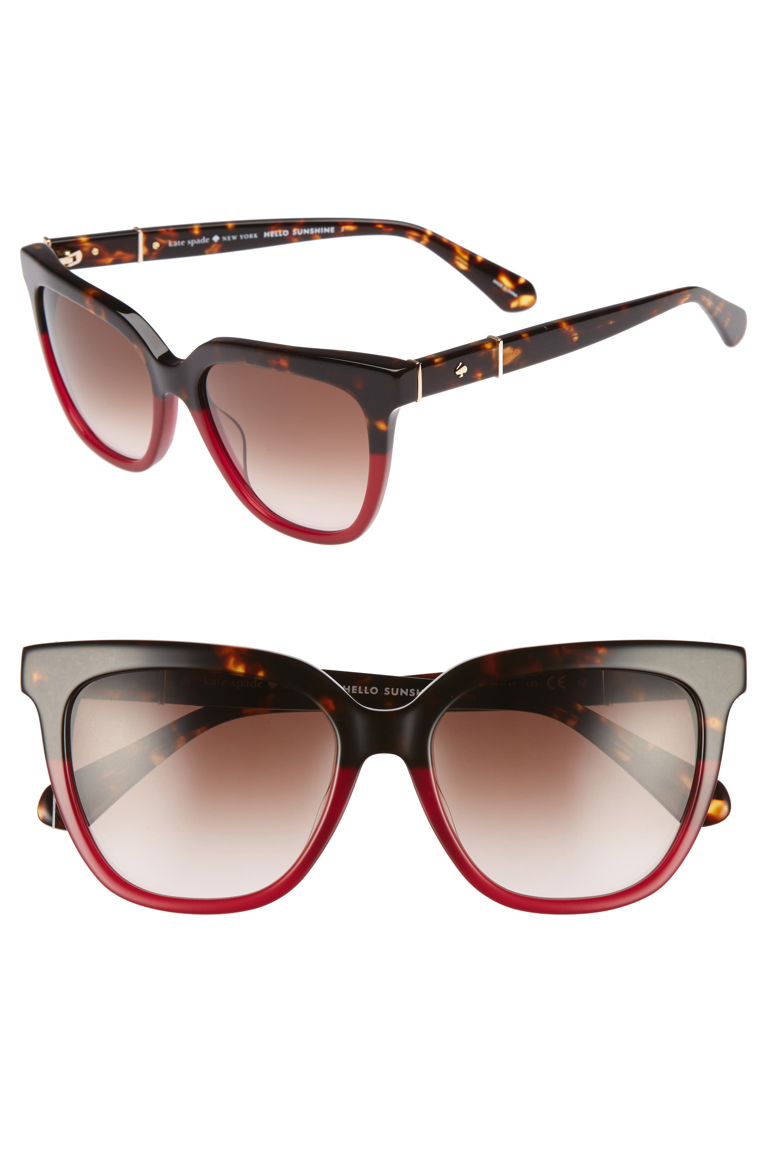 Alternate Image 1 Selected - kate spade new york kahli 53mm cat eye sunglasses